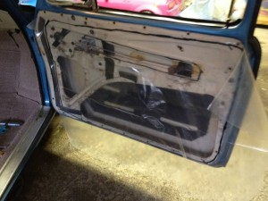 Interior door panel removed