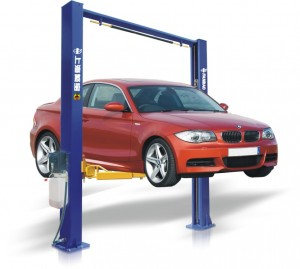 Vehicle on lift, part of R&I for access. (wheel removal, liner removal, door seal access)