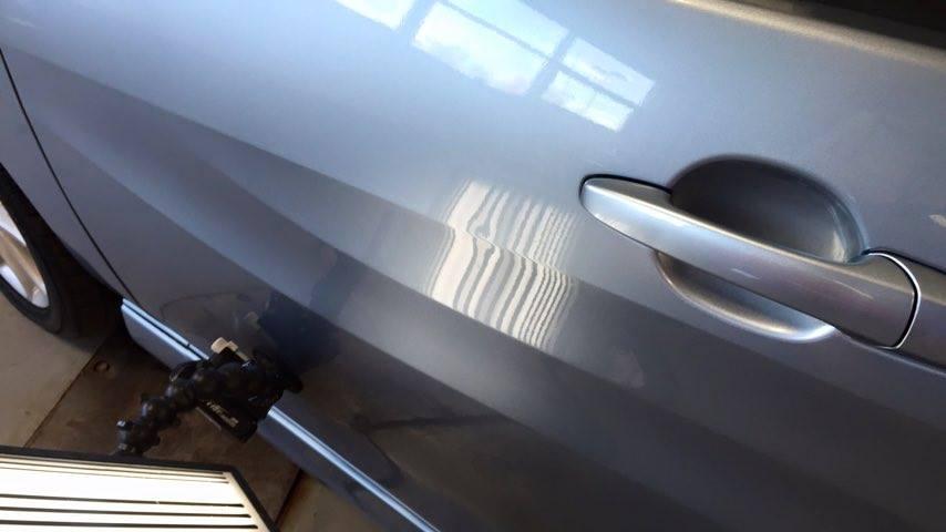 2013 Mazda 5 Wagon Body Line Dent Repair by Michael Bocek in Springfield IL, At Dealership Http://217hail.com http://217dent.com