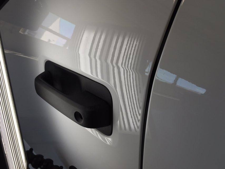 """http://217dent.com and http://217dent.com 2015 Aluminum Ford F-150 dent on body line of drivers door, Dent Expert Michael Bocek is called in to clean up a poor previous attempt. Repair attempted in Springfield Illinois and Michael cleans up this mess in Springfield Illinois. """". Choose 217dent.com"""