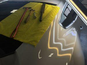 Springfield Illinois Mobile Dent Repair, http://217dent.com, 2016 Ford Mustang, Dent in Passenger Rear Quarter removed by Dent Expert Michael Bocek