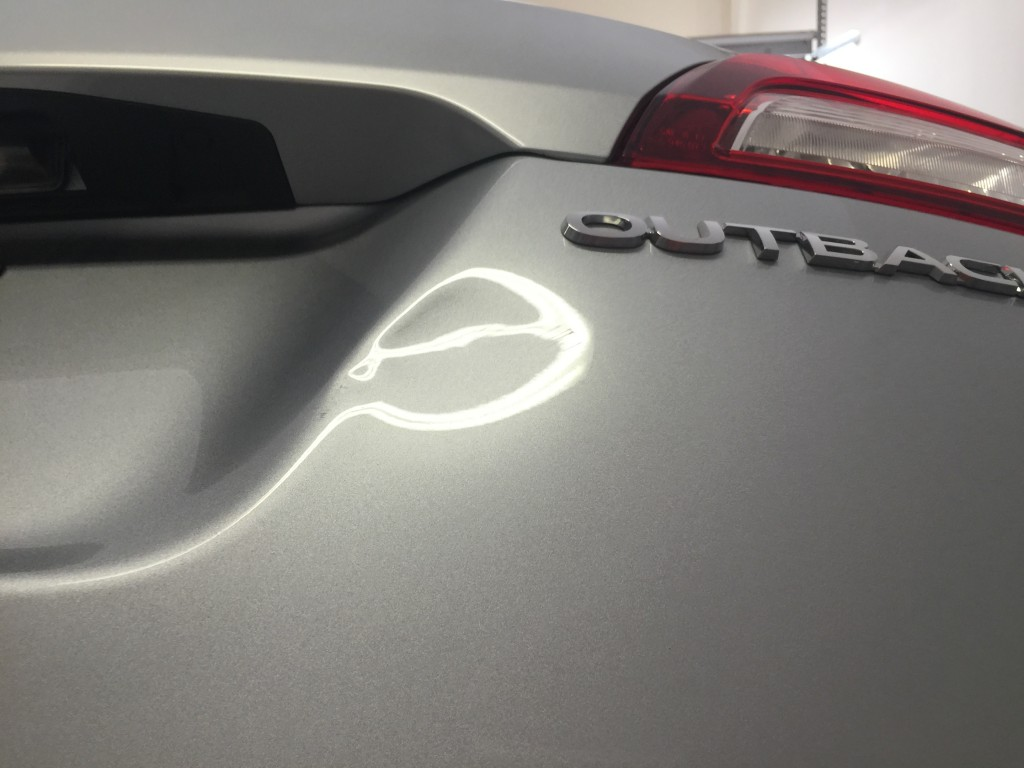 2016 Subaru Outback Rear Gate Damage Repair by Michael Bocek in Springfield IL, At Customer's home