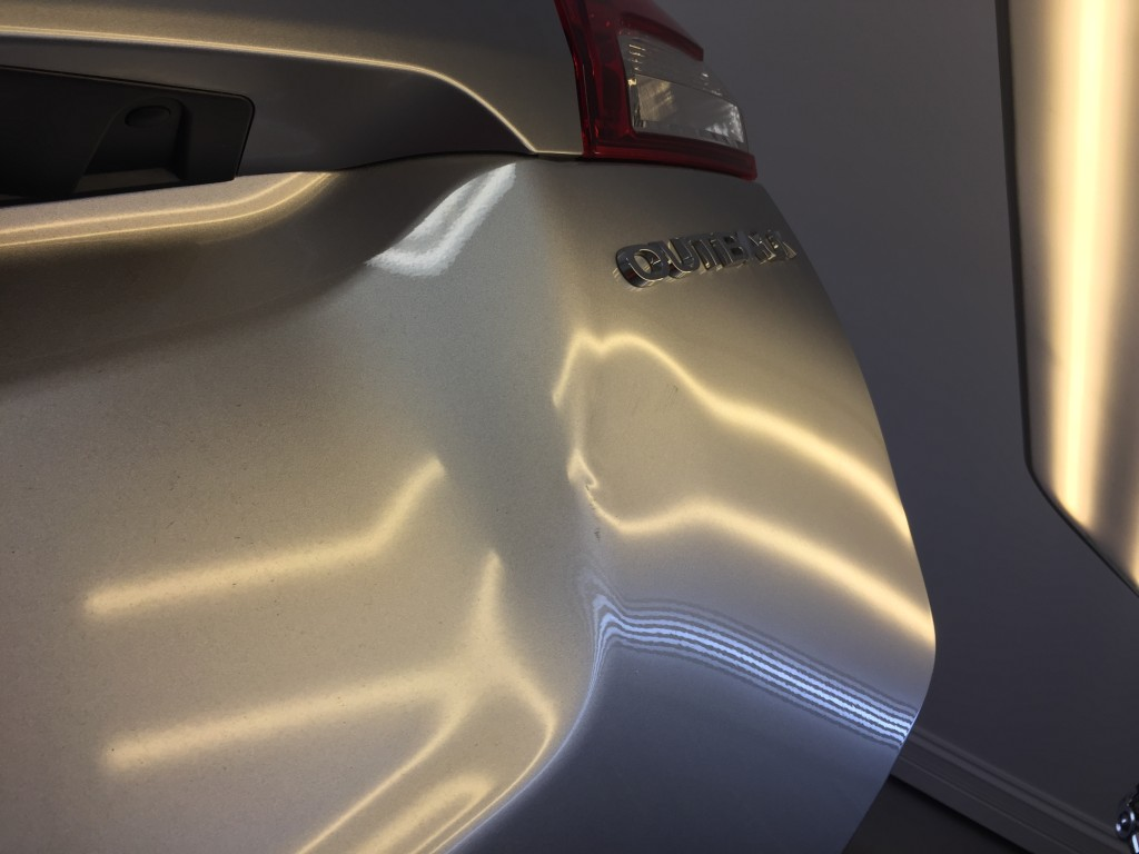 2016 Subaru Outback Rear Gate Damage Repair by Michael Bocek in Springfield IL, At Customer's home Http://217hail.com http://217dent.com