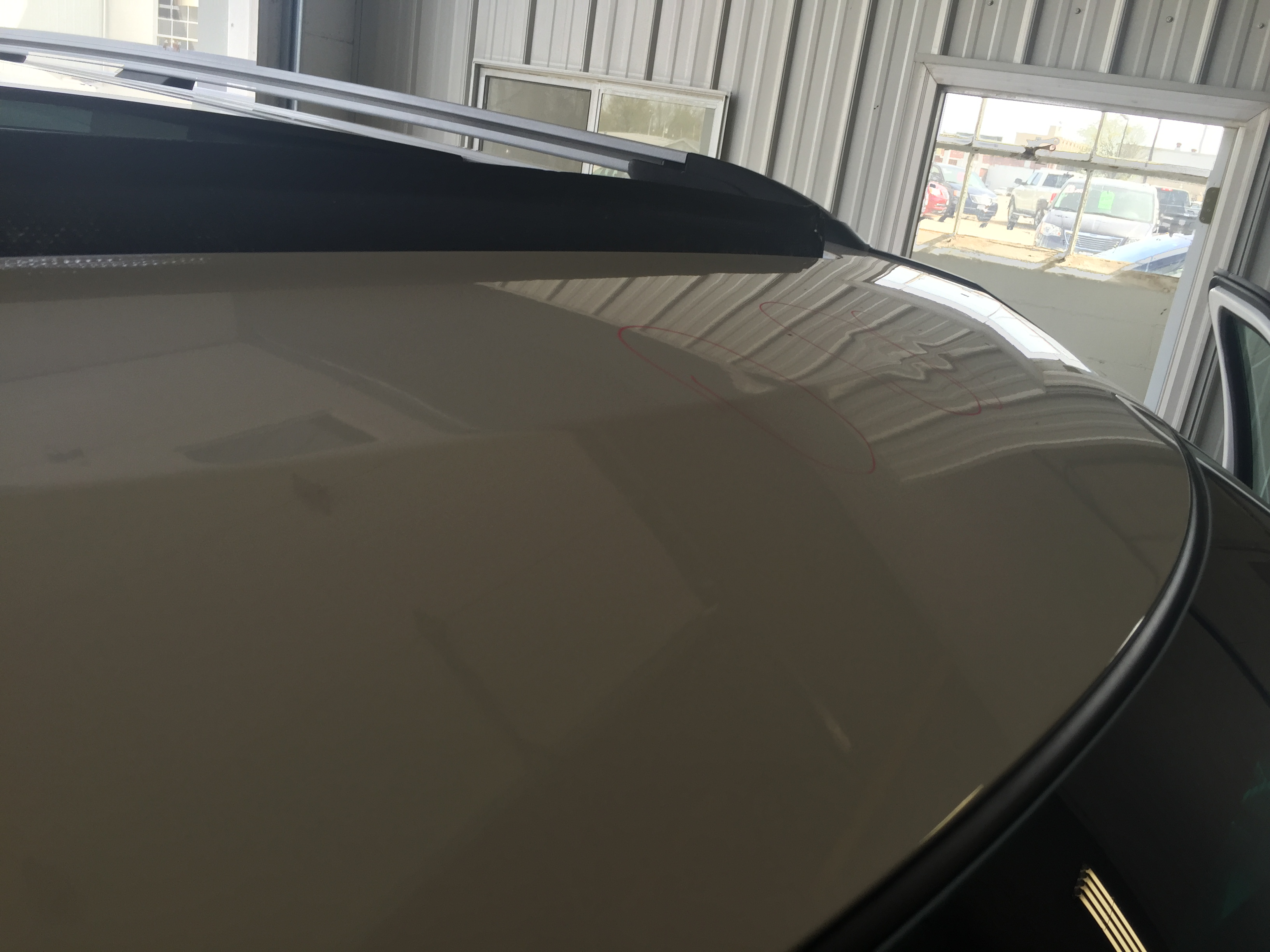 2014 Ford Explorer XLT Tri Coat White, Paintless Dent Repair Springfield IL, Pana IL Taylorville IL, Roof Dents