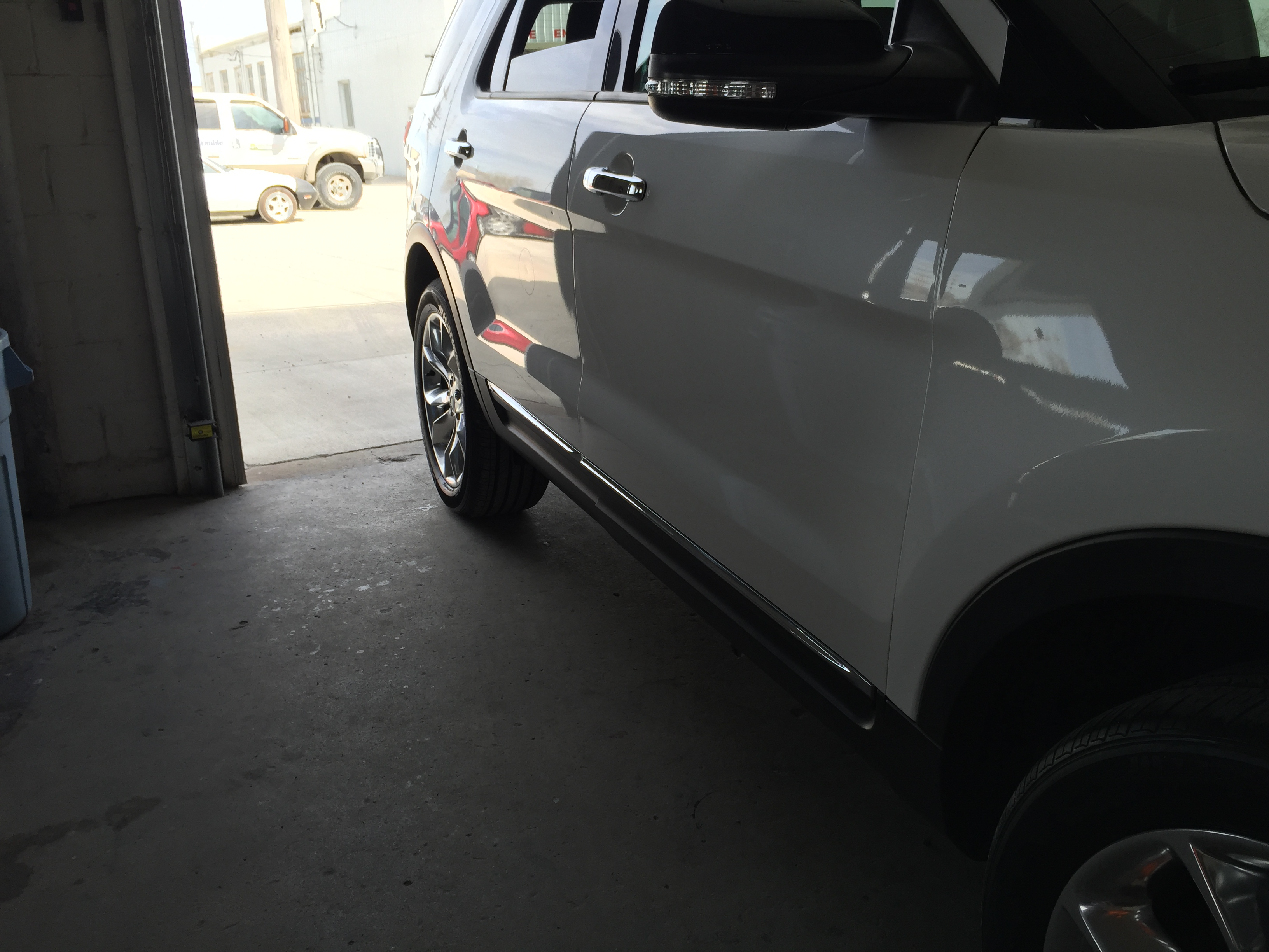 2014 Ford Explorer XLT Tri Coat White, Paintless Dent Repair Springfield IL, Pana IL Taylorville IL