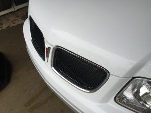 2009 White Torrent   Large Dent Drivers Rear Door. Work performed by Dent Expert Michael Bocek from 217dent.com. 217hail.com