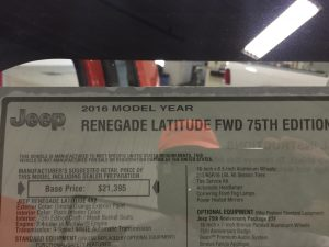 http://217dent.com 2016 Jeep Renegade Latitude Dent Repair, Hail Repair, Ding Repair, Springfield, IL. Decatur, IL. Taylorville, IL mobile dent repair