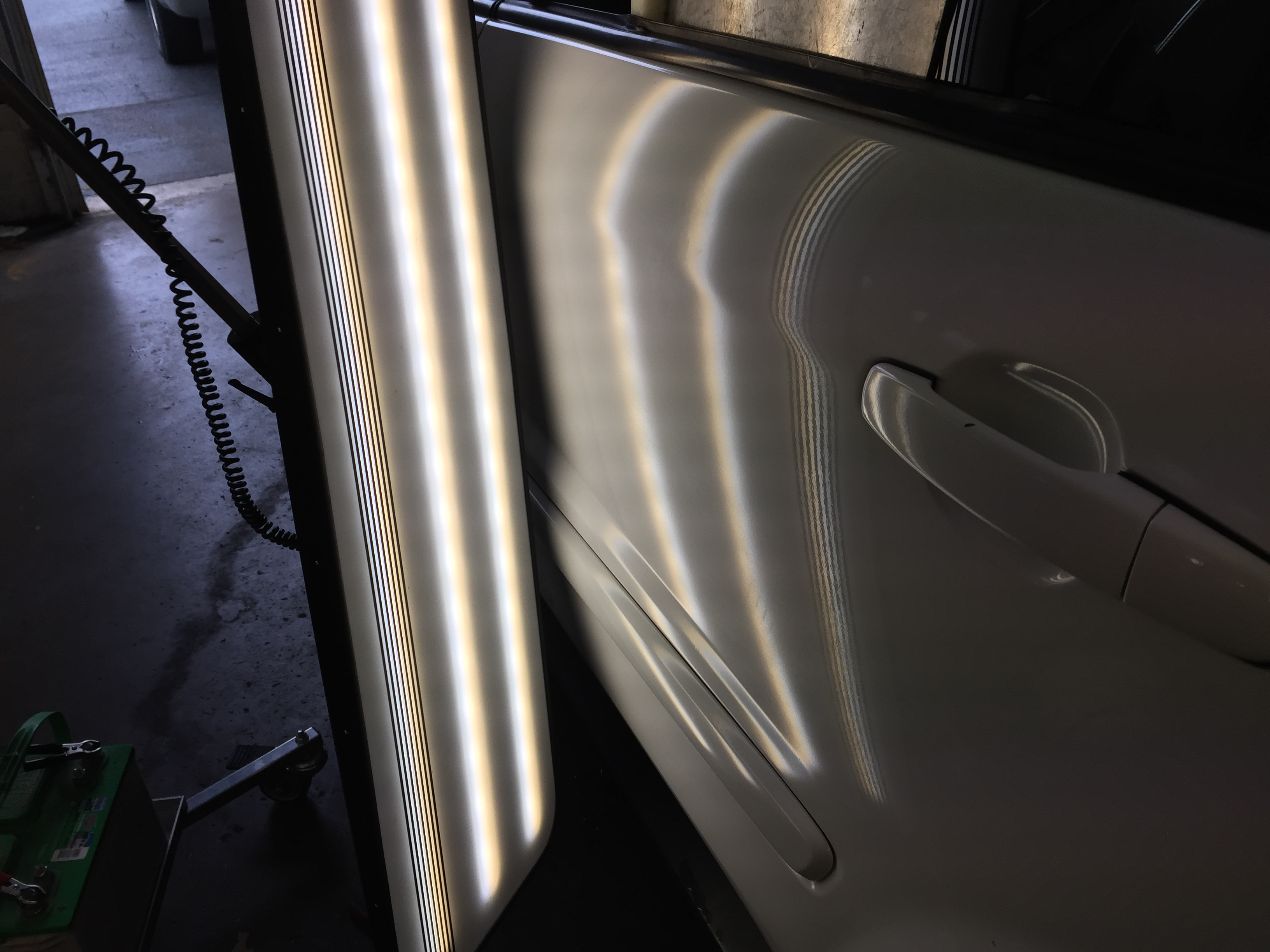 2009 White Torrent Large Dent Drivers Rear Door