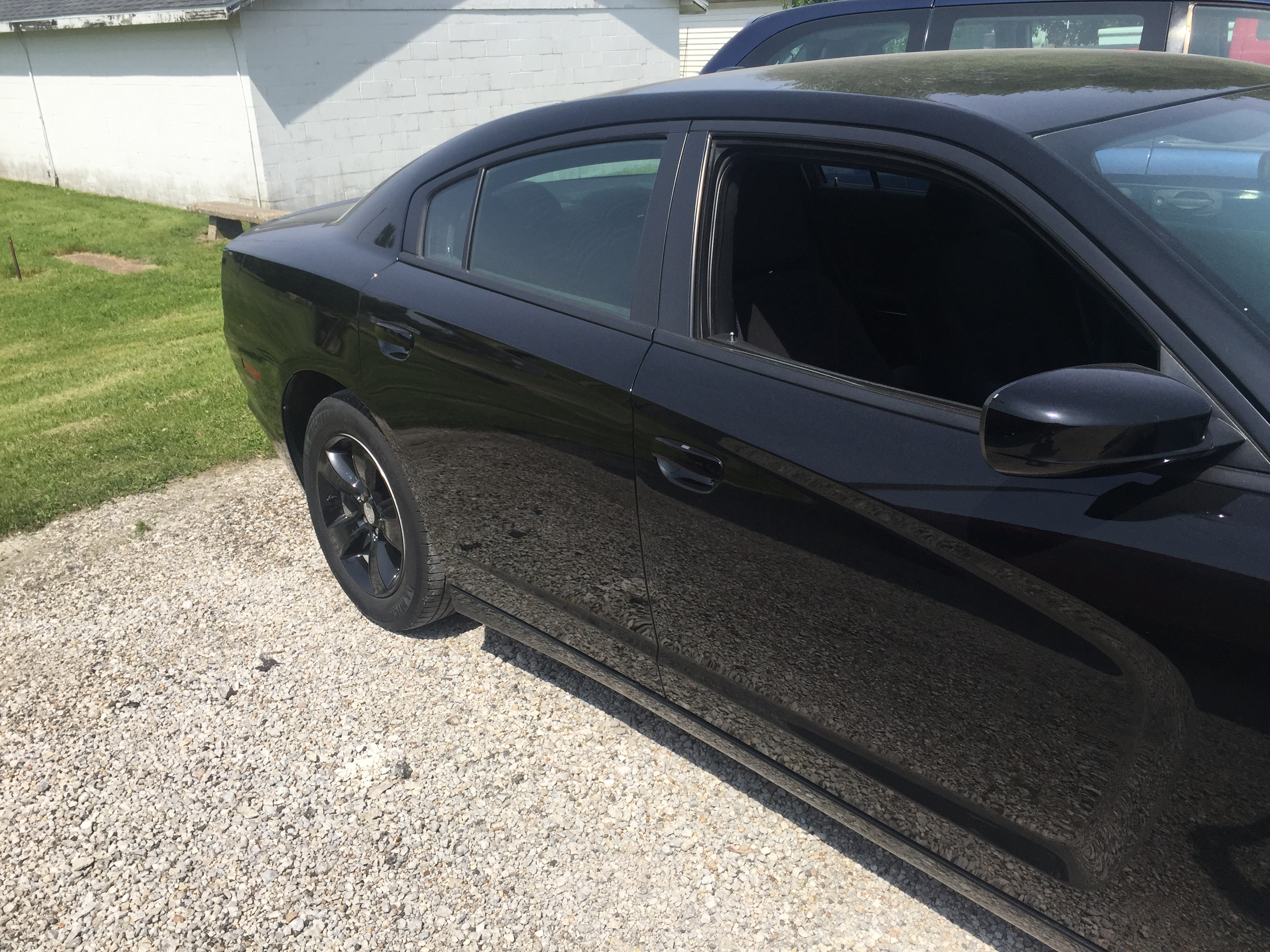 2013 Dodge Charger, Dent Repair Rear Quarter, Http://217dent.com