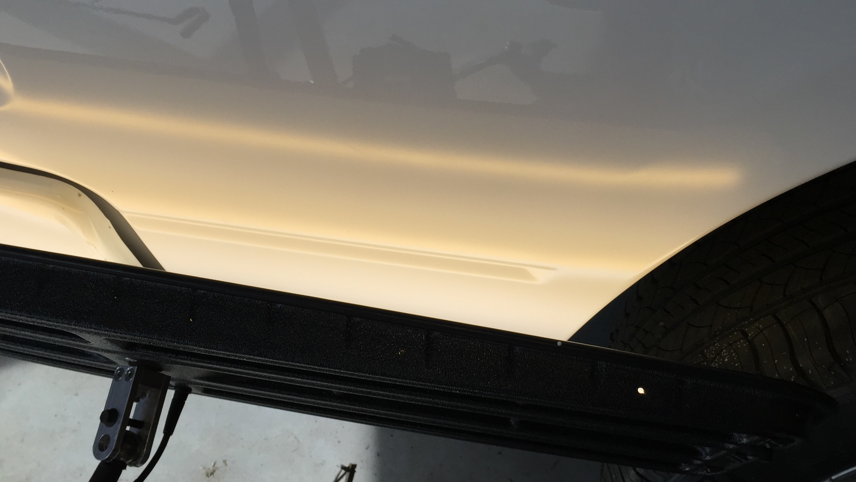 Springfield, IL 2014 Dodge Ram Bedside crease, Paintless Dent Removal, Dent Repair Http://217dent.com
