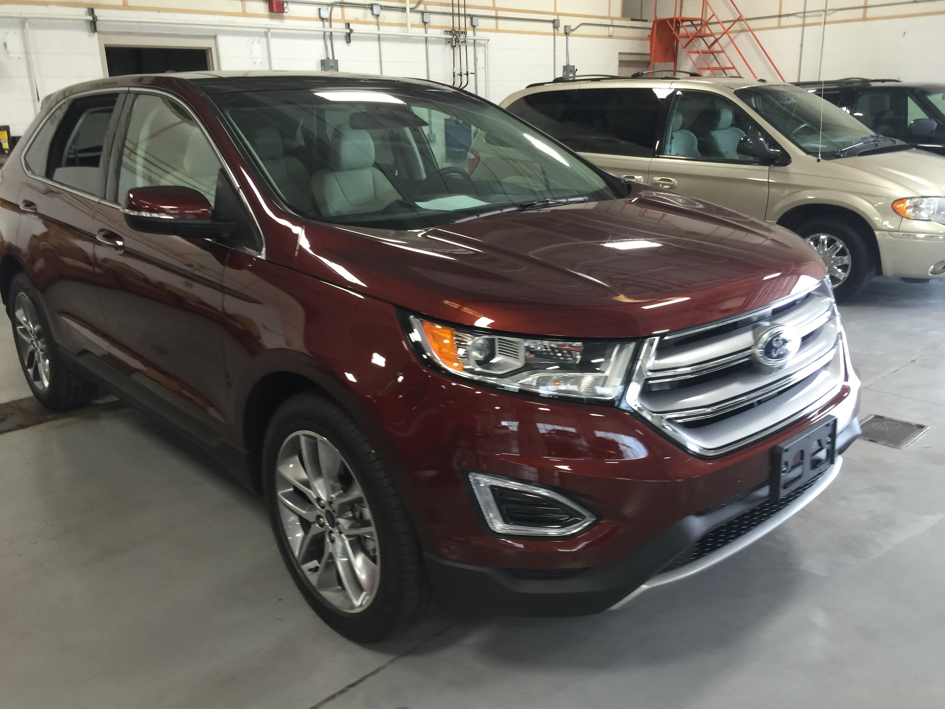 2016 Ford Edge Dent Repair Springfield IL http://217dent.com Passenger Rear Door, Dent Removal By Michael Bocek