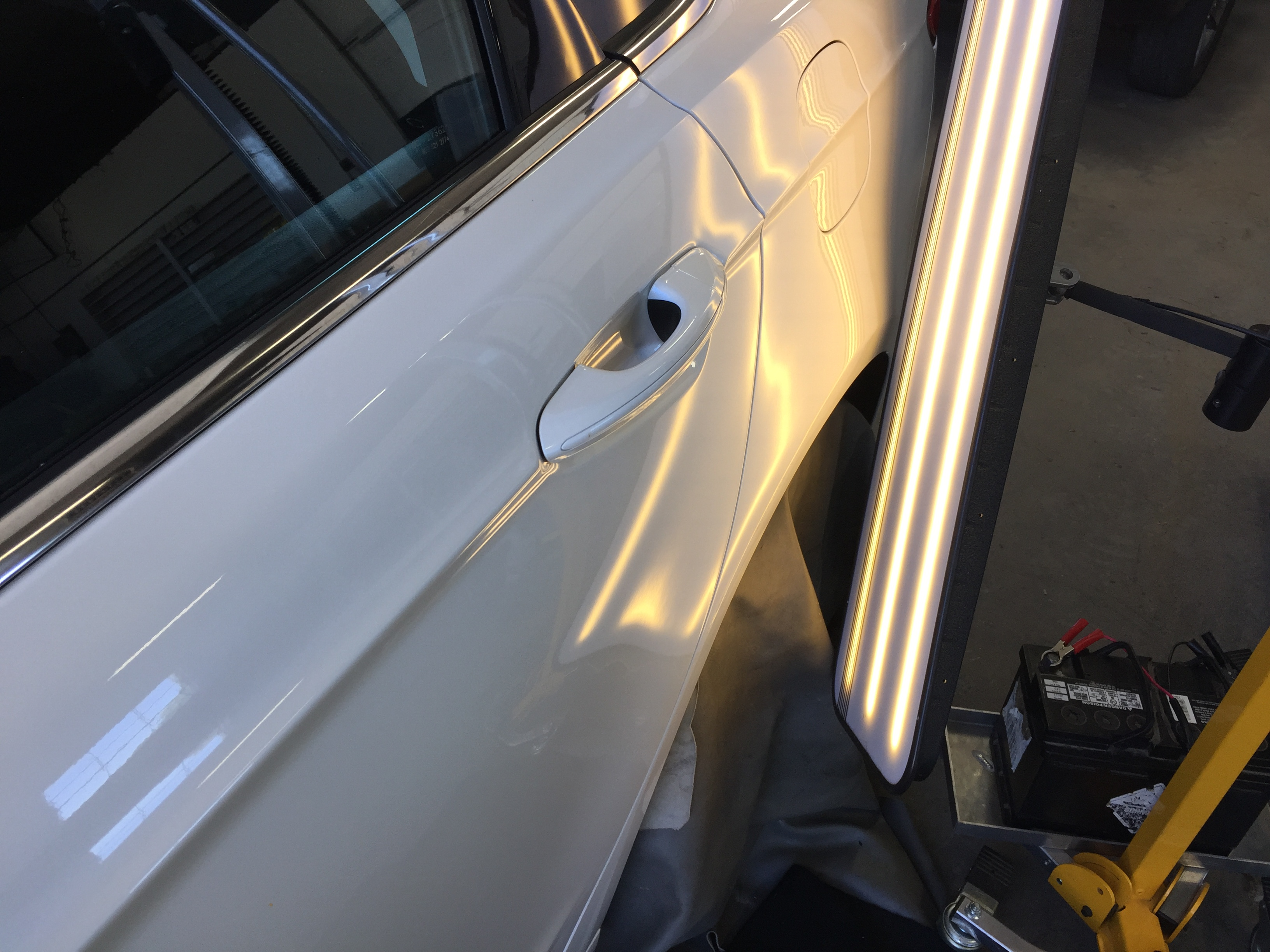 2016 Ford Fusion Dent Removal, Springfield, IL. http://217dent.com, Paintless Dent Repair Rear Quarter