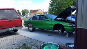 1994 Chevy Caprice, Paintless Dent Removal, Passenger Fender, Springfield, Illinois, Mobile Dent Repair http://217dent.com