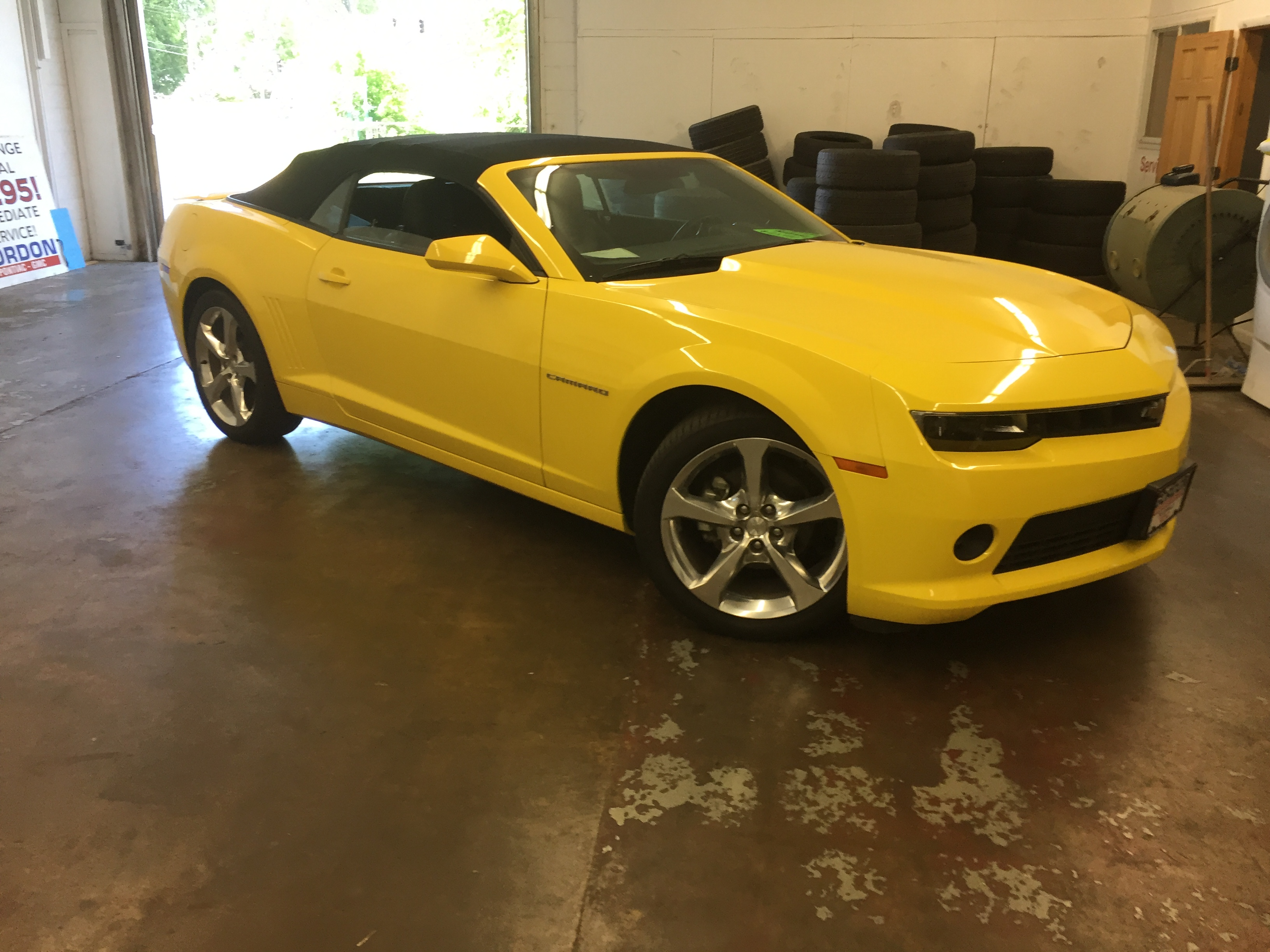 Http://217dent.com, Mobile Dent Repair, 2015 Camero, Dent on Passenger Door Body Line, Paintless Dent Repair, Springfield IL