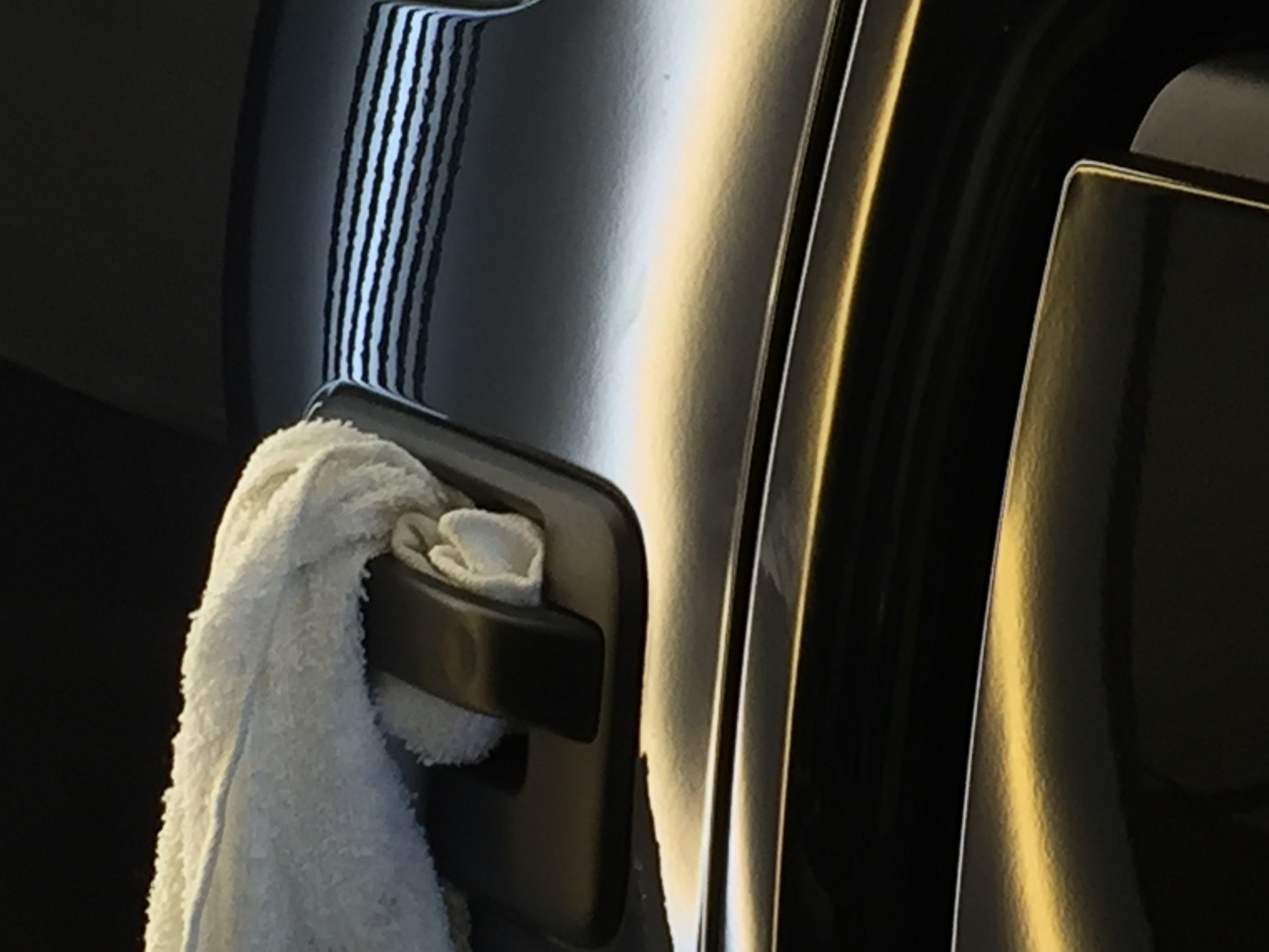 http://217dent.com 2014 Ford F-150 Dent Repair, Michael Bocek out of Springfield, IL. Drivers Side Rear Door, all glue pull dent removal. Paintless Dent Repair, Paintless Dent Removal, Taylorville, Decatur, Pana, IL