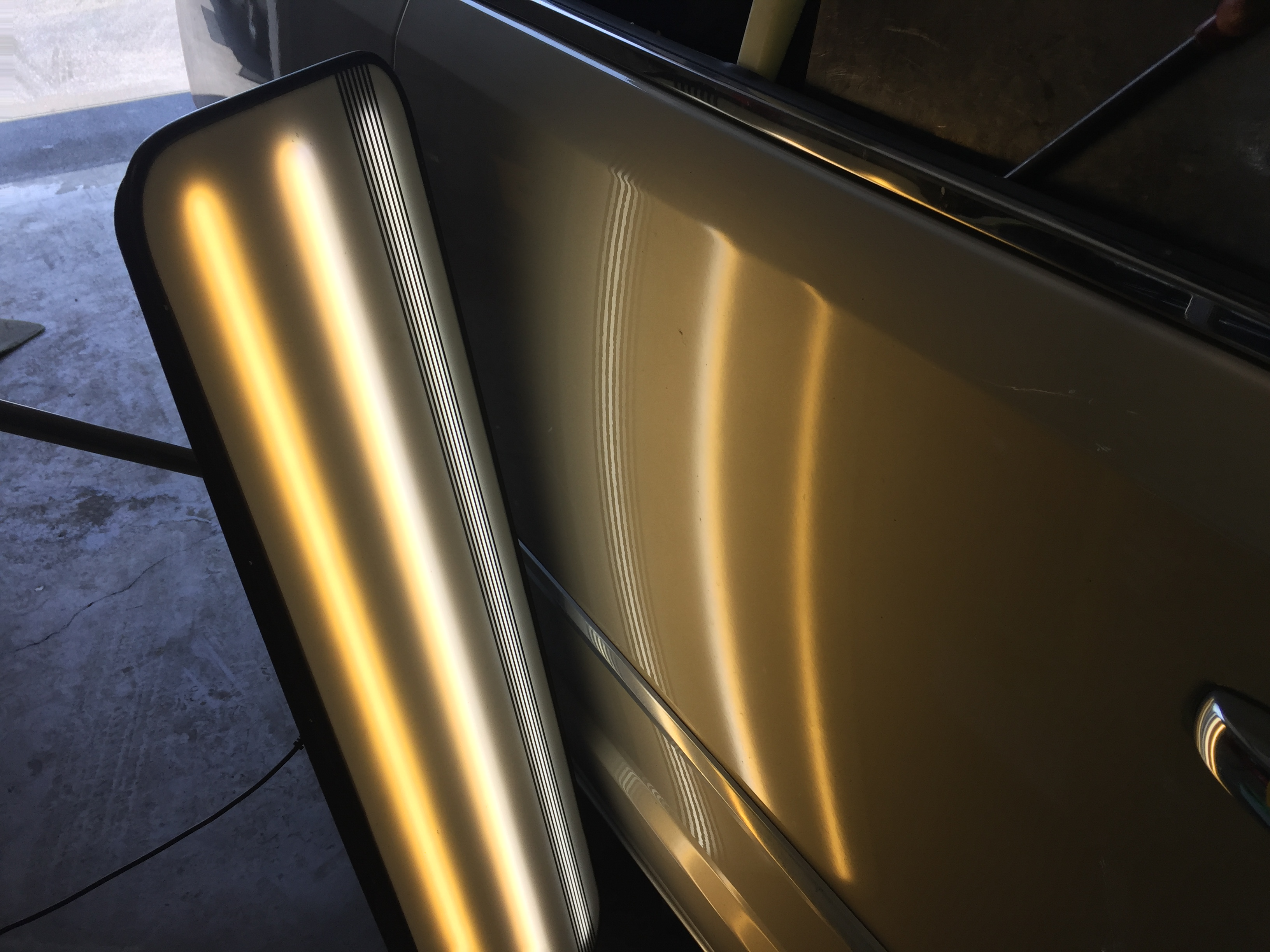 2016 Town & Country Dent Removal, passenger Sliding door, Mobile Dent Repair Springfield, IL http://217dent.com