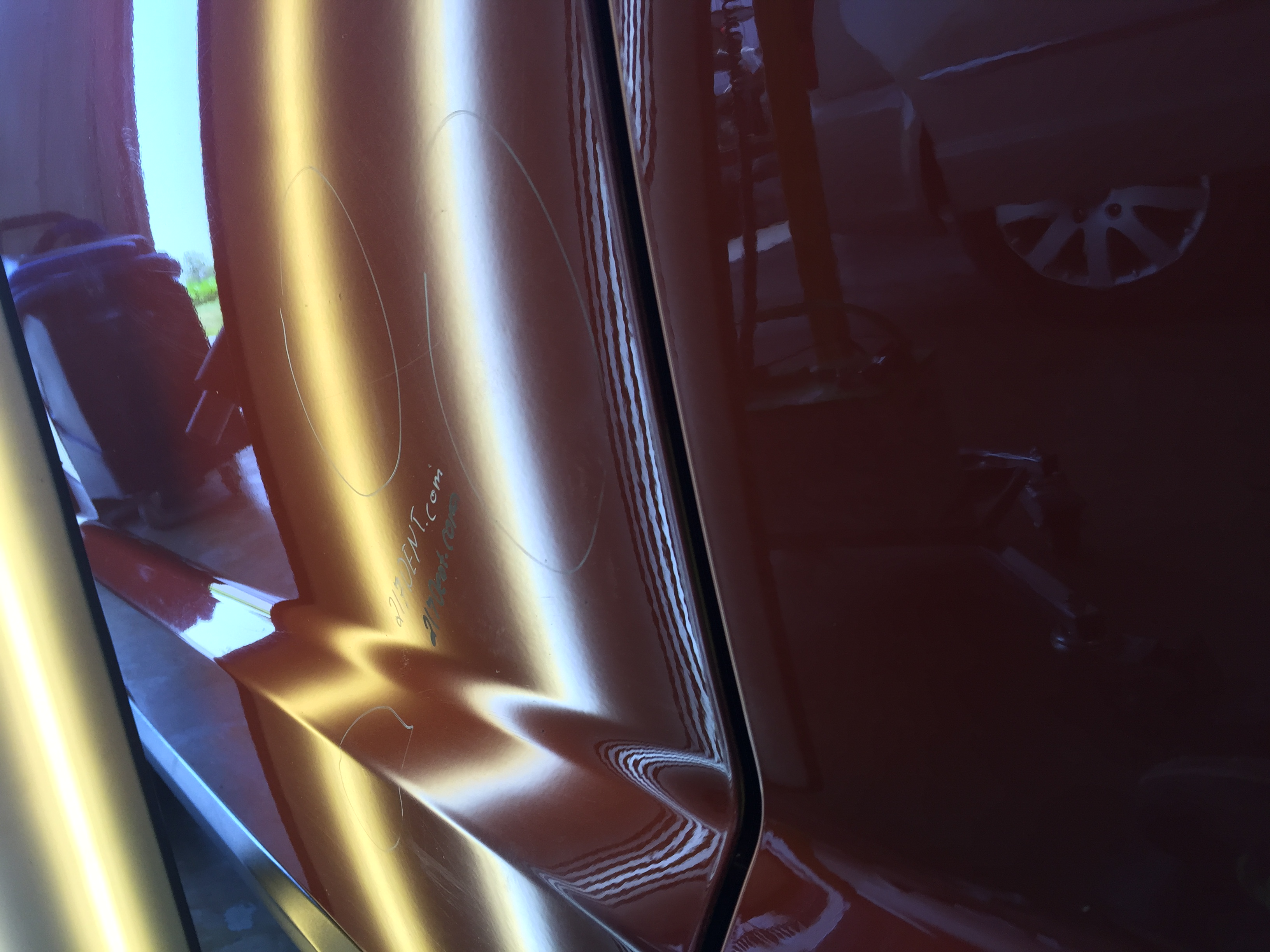 http://217dent.com 2013 Dodge Journey Drivers Door Dent Removal, Springfield Illinois