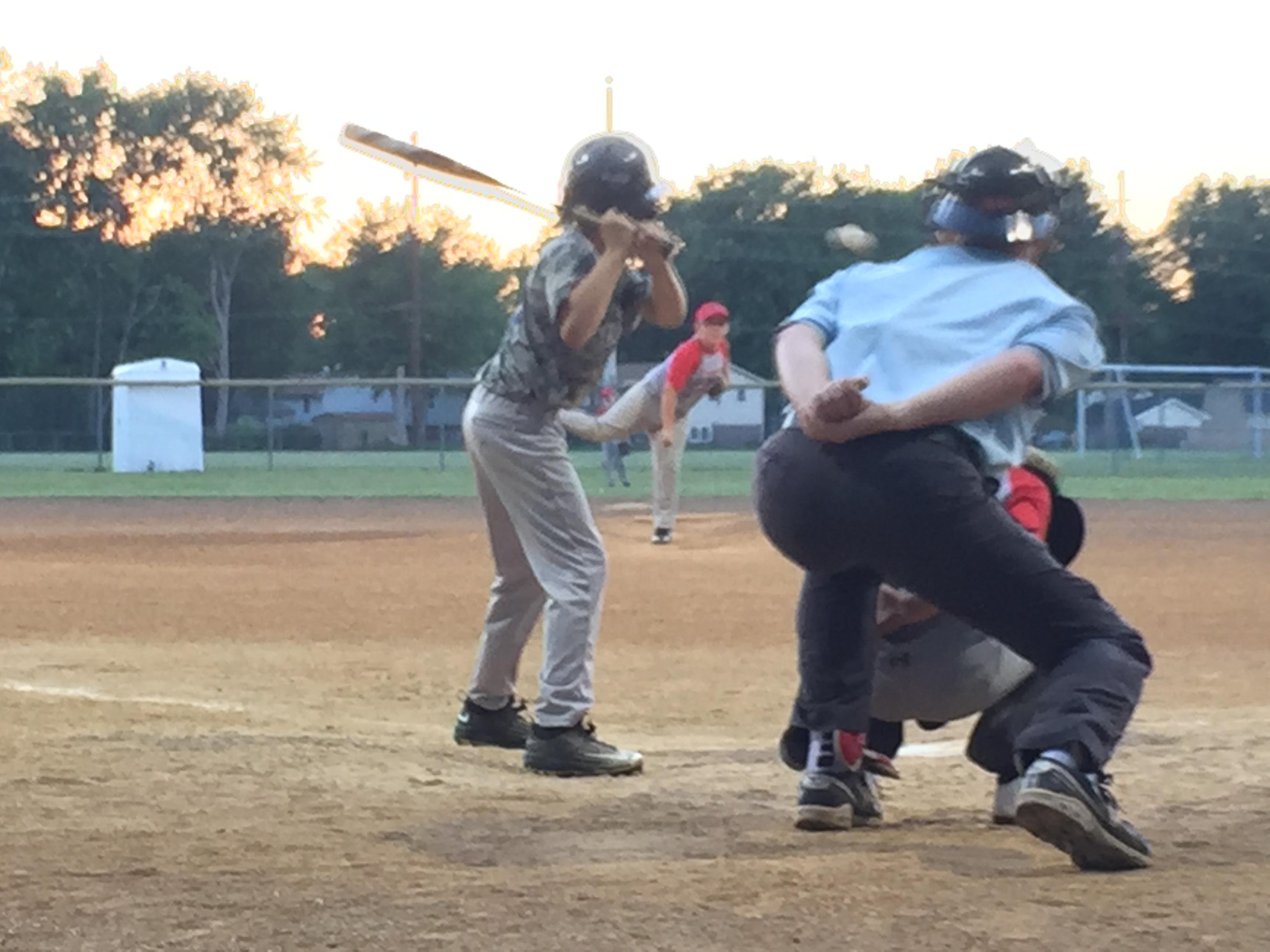 Got Dents Springfield IL, Vs Riverton Rangers of Riverton IL, Baseball Game June 18, 2016
