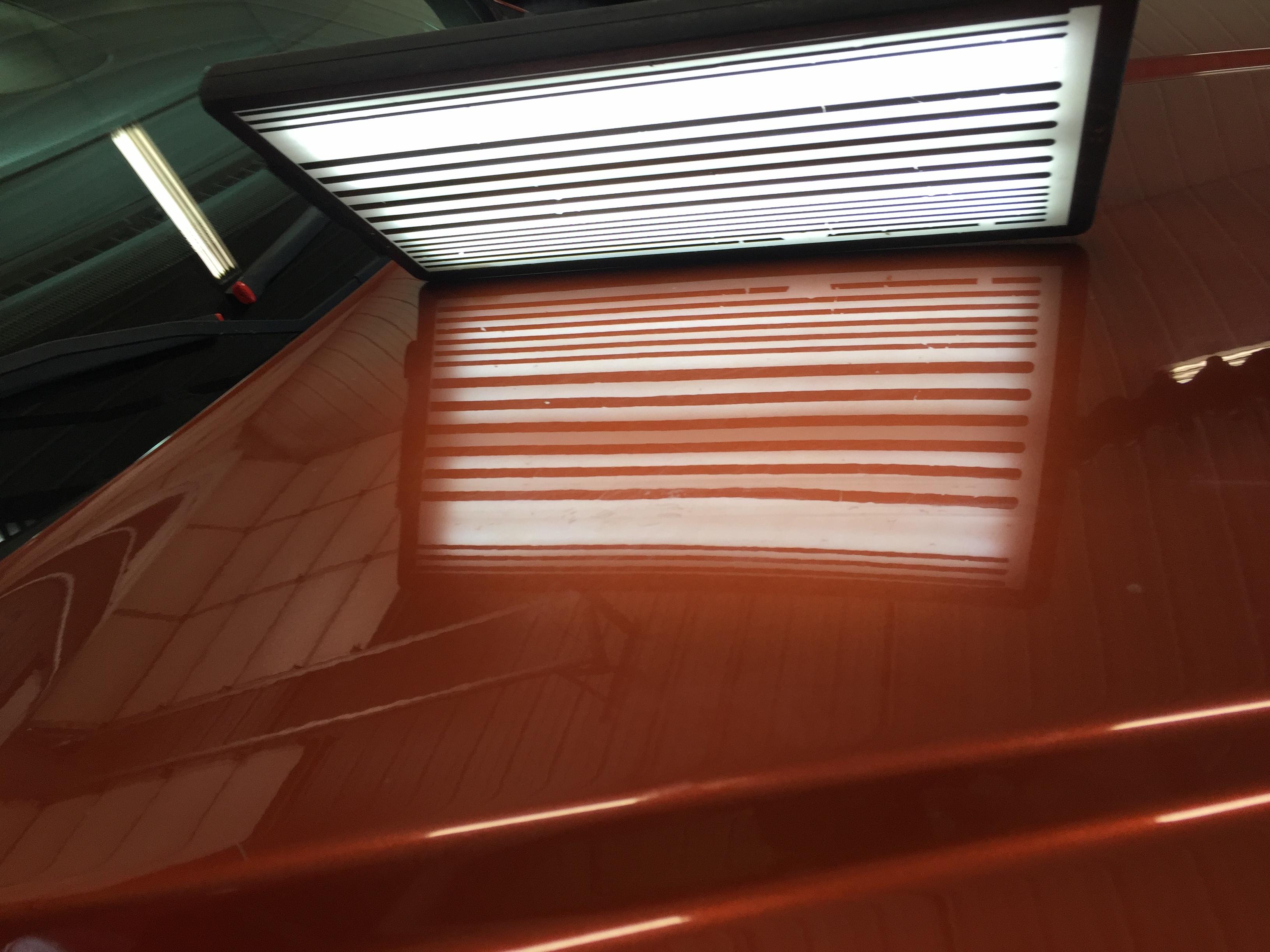2013 Dodge Journey, Large Crease in Hood, Mobile Dent Repair Springfield, IL http://217dent.com mobile dent repair Decatur IL, Taylorville IL