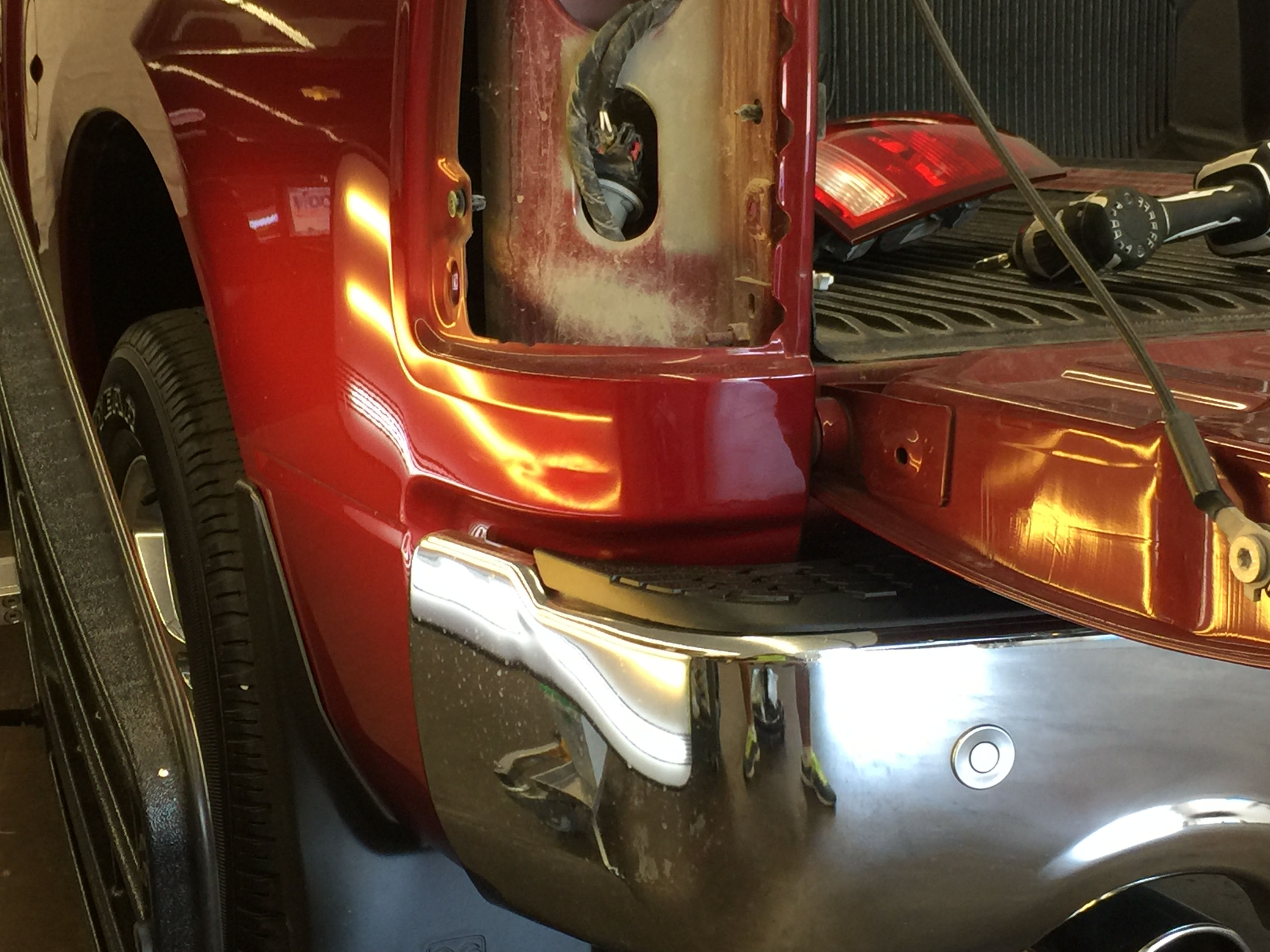 2015 Dodge Ram Dent Removal, Springfield, IL http://217dent.com Bedside Paintless Dent Repair, Mobile dent removal