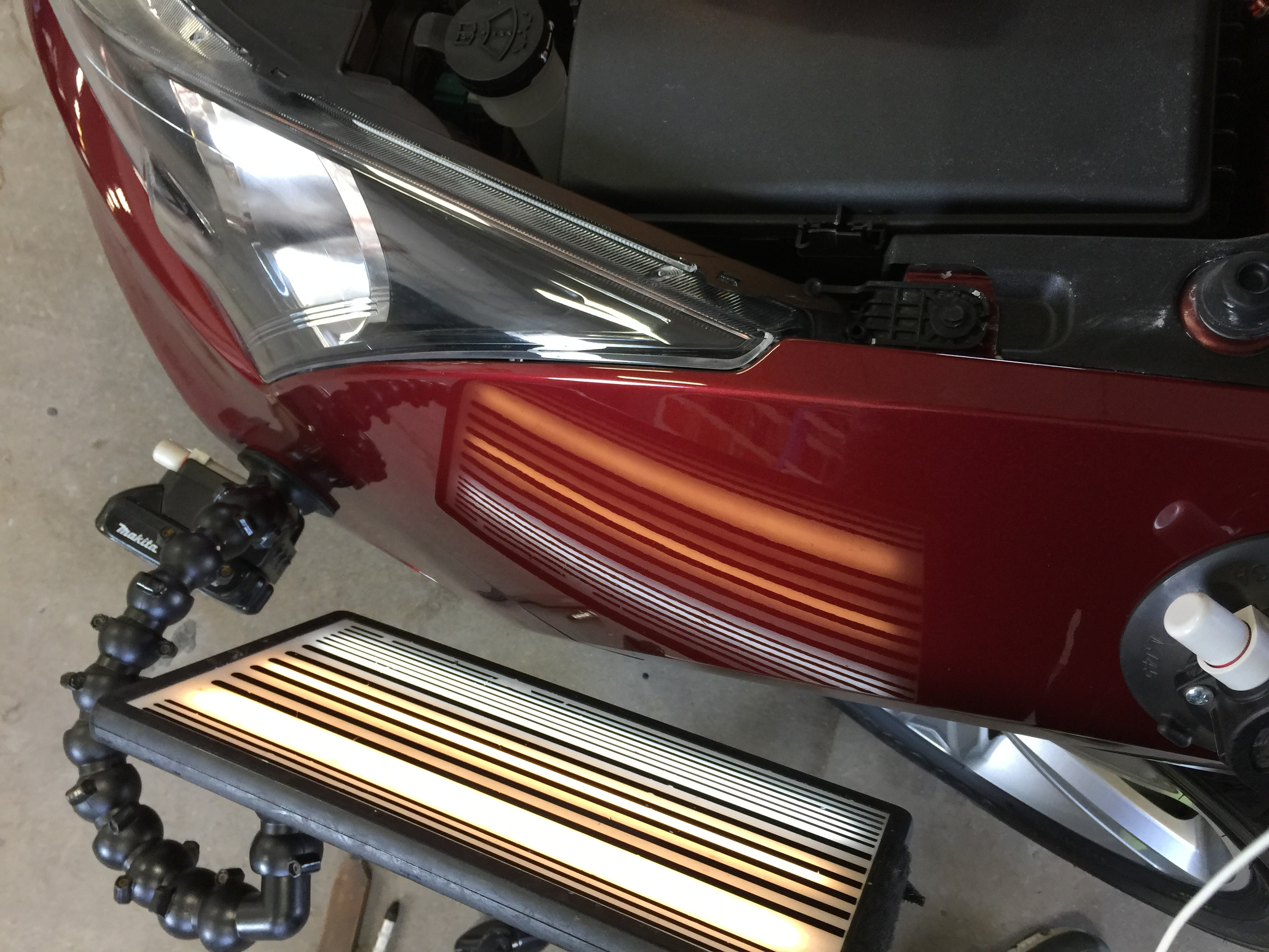 2015 Chevy Cruze Dent Removal on Drivers Fender | Dent Repair | Springfield, IL. Http://217dent.com