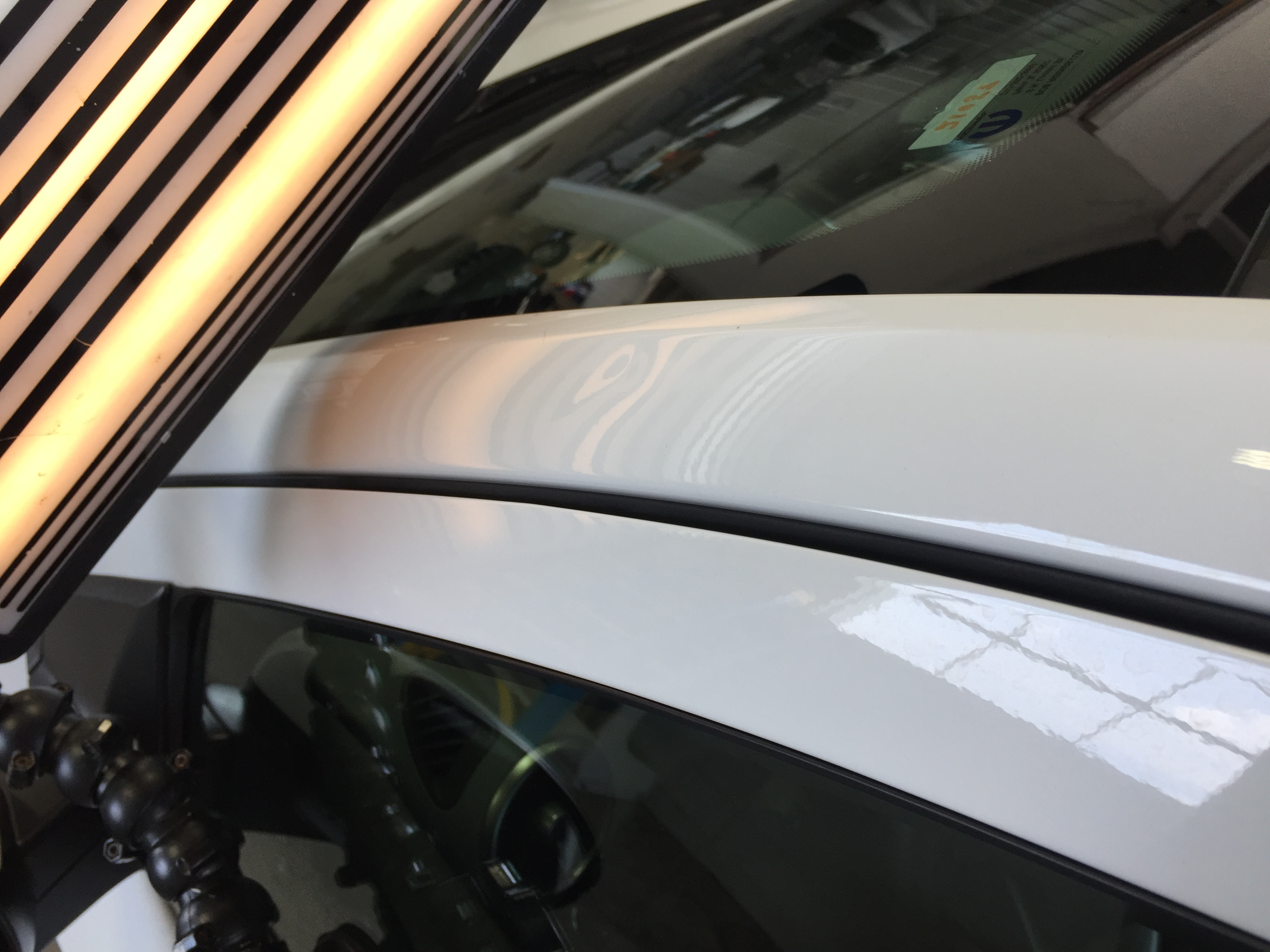 2015 Chevy Sonic, Dent Removal on PIllar, Images, Hail Damage, Paintless Dent Removal, Springfield, IL, http://217dent.com