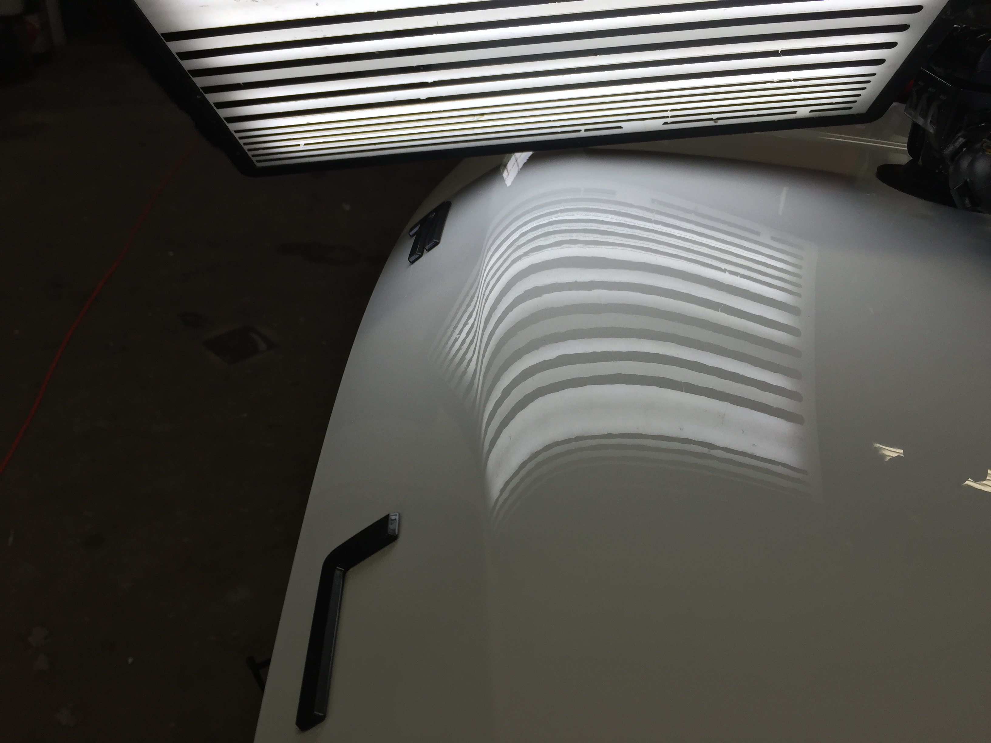 2015 Ford Flex, Paintless Dent Removal, Hood Damage, Springfield, IL. http://217dent.com