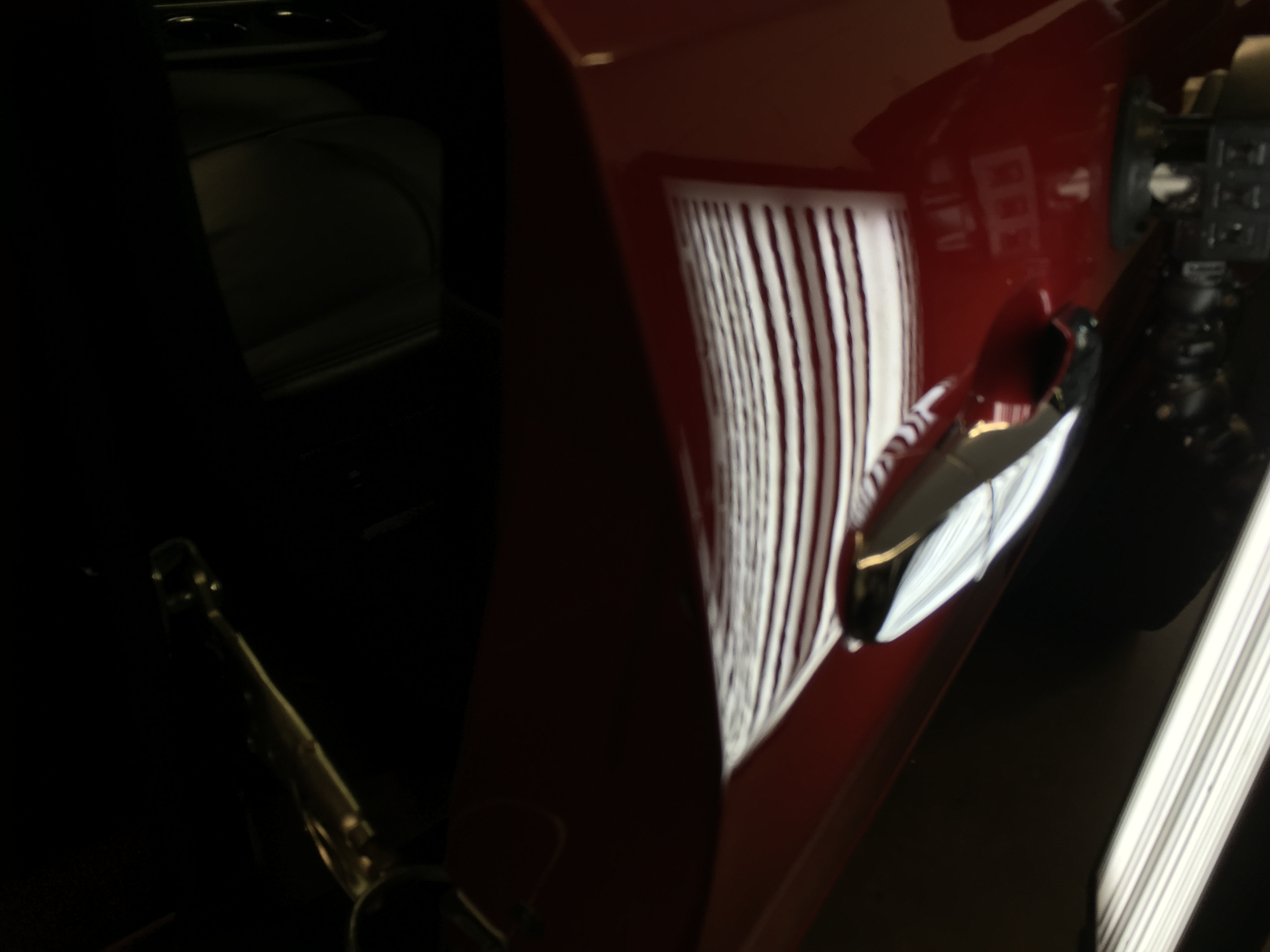 2012 Traverse Dent Removal in Springfield, IL, Paintless Dent Removal, Ding Repair, Traverse passenger Door, http://217dent.com