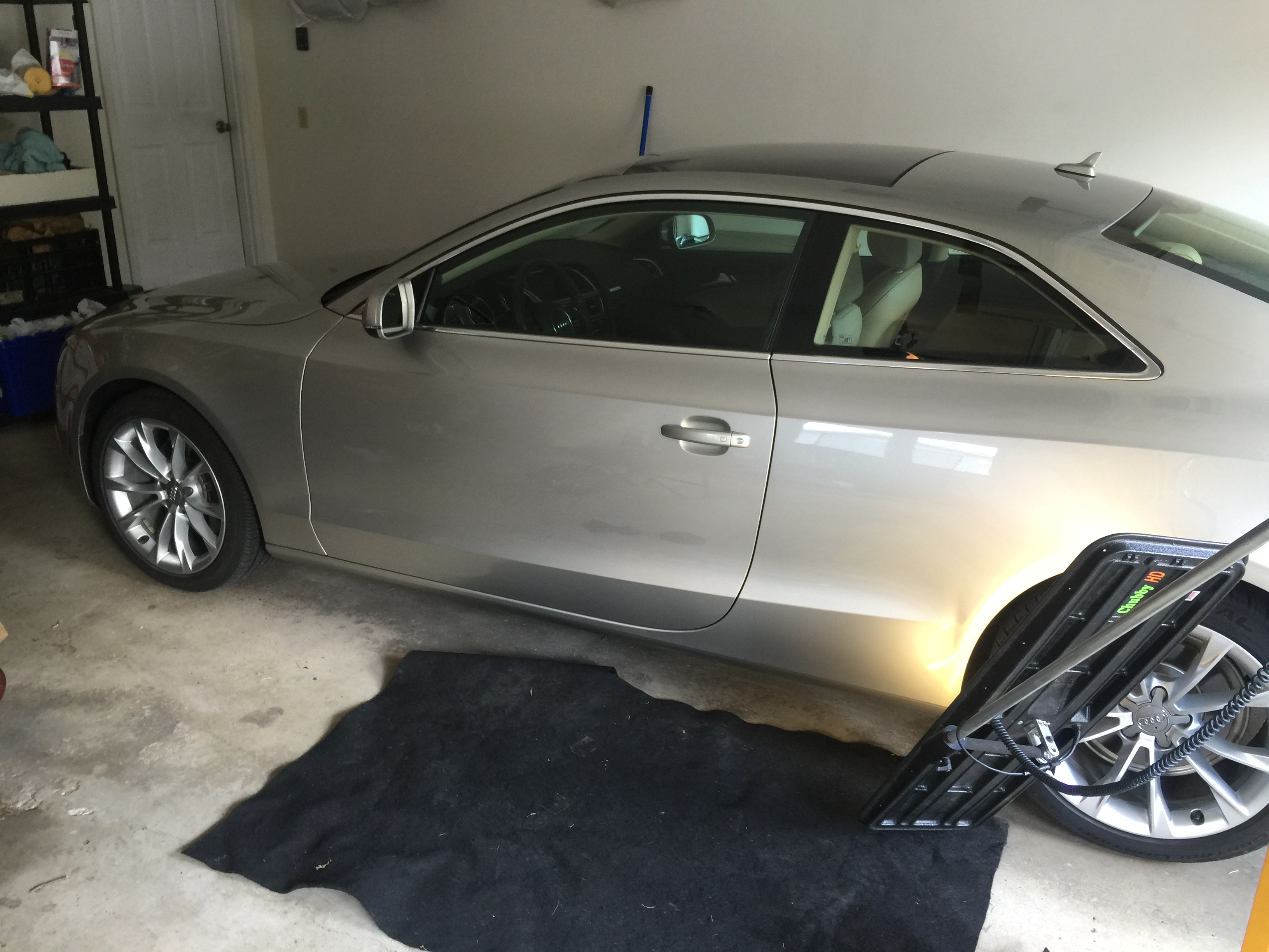 2013 Audi A5 Dent Repair on drivers rear quarter, paintless dent removal Springfield, IL http://217dent.com