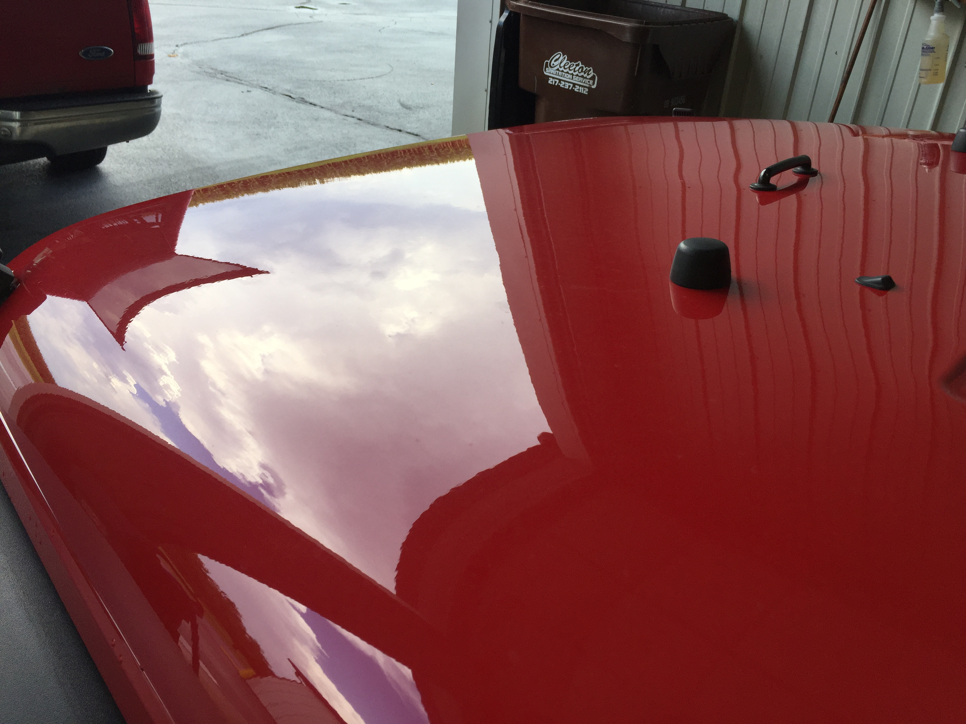 2014 Jeep Wrangler Dent Removal, Hail Damage on Hood. Springfield, IL. Paintless Dent Removal by Michael Bocek with http://217dent.com