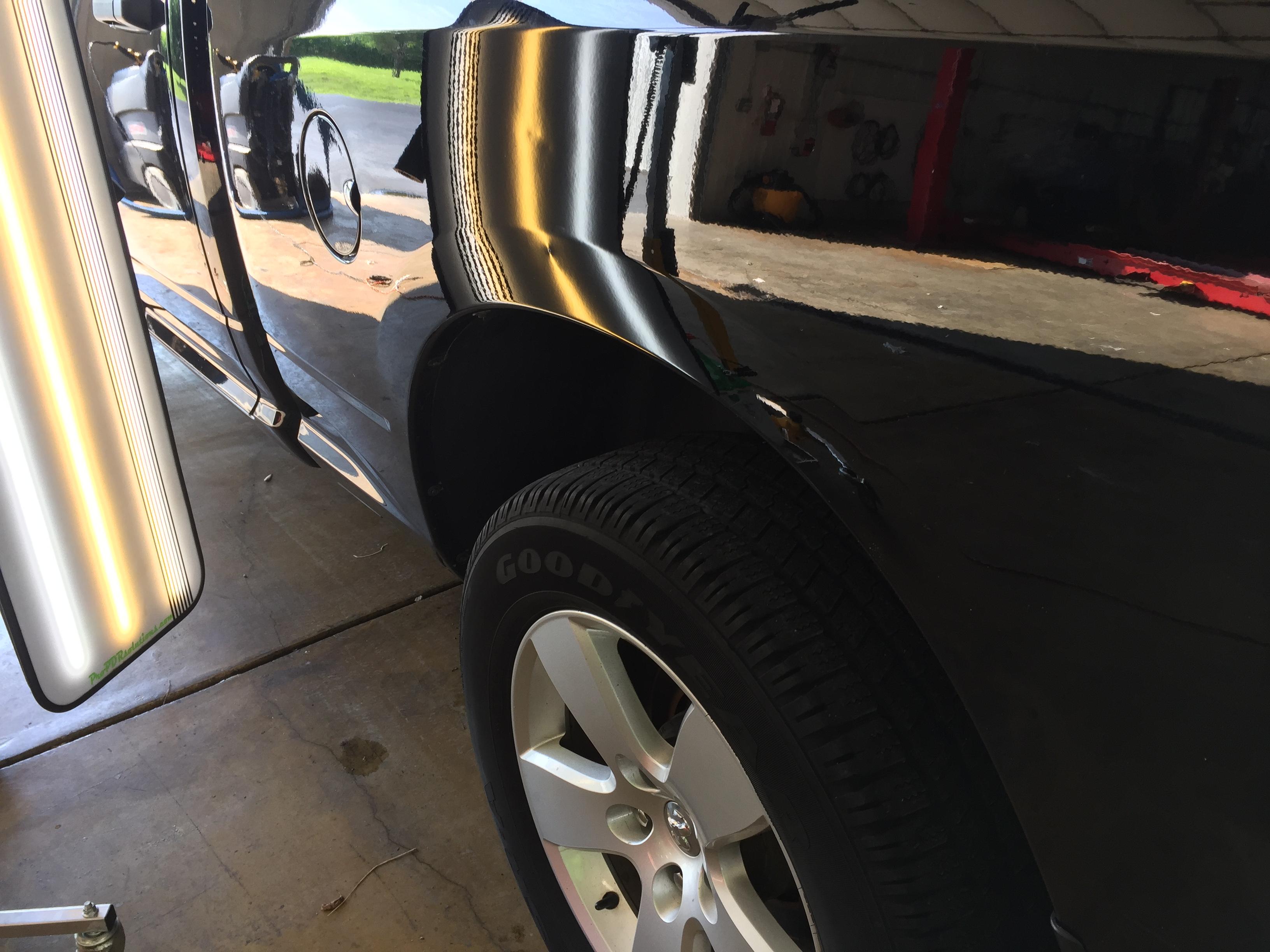 2012 Dodge Ram Bedside Damage, Paintless Dent Repair, Springfield, IL. http://217dent.com