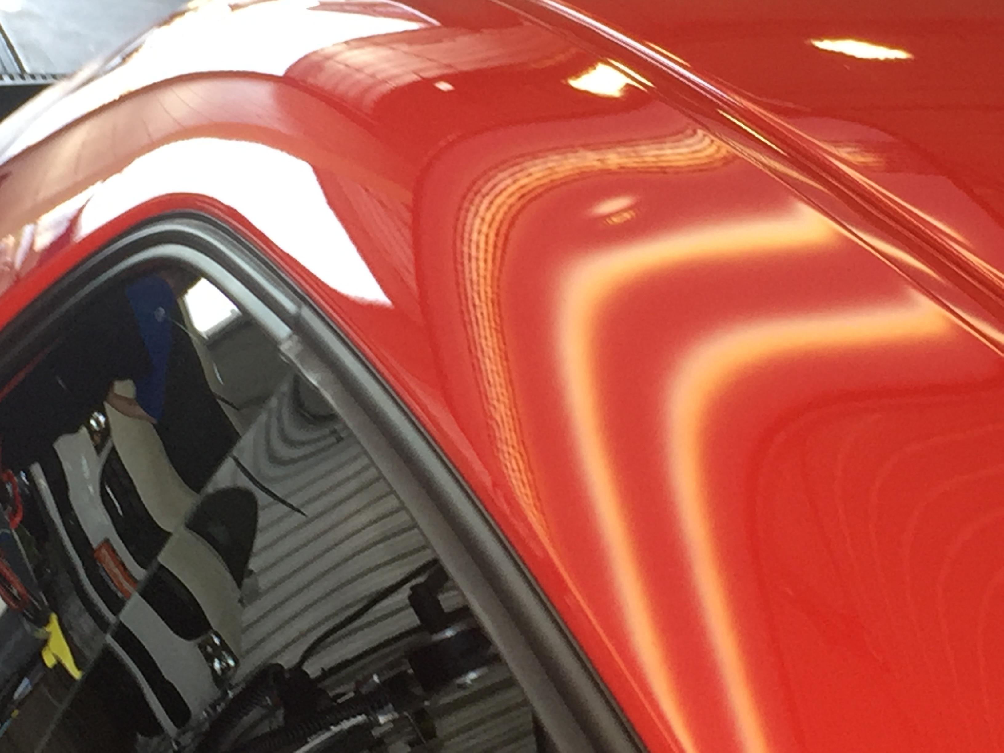 2009 Dodge Challenger SRT8 Dent Repair on Roof Rail, Springfield, IL. http://217dent.com