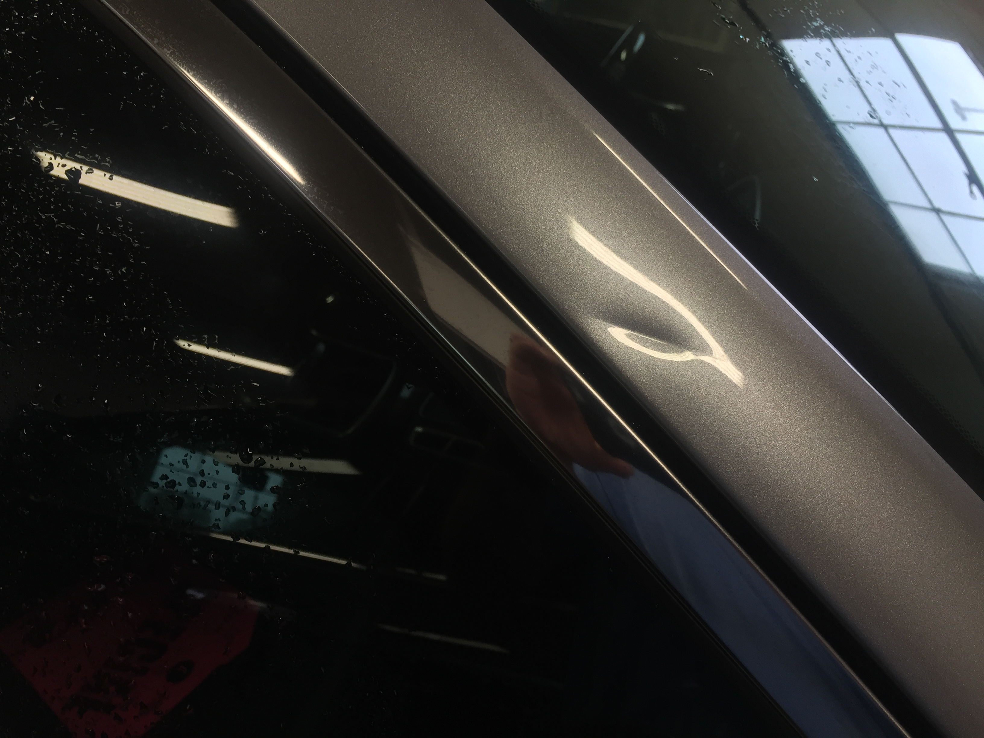 2015 Chrysler 300 Sharp Dent Removal on Pillar all glue pull, paintless dent repair, Springfield, IL http://217dent.com