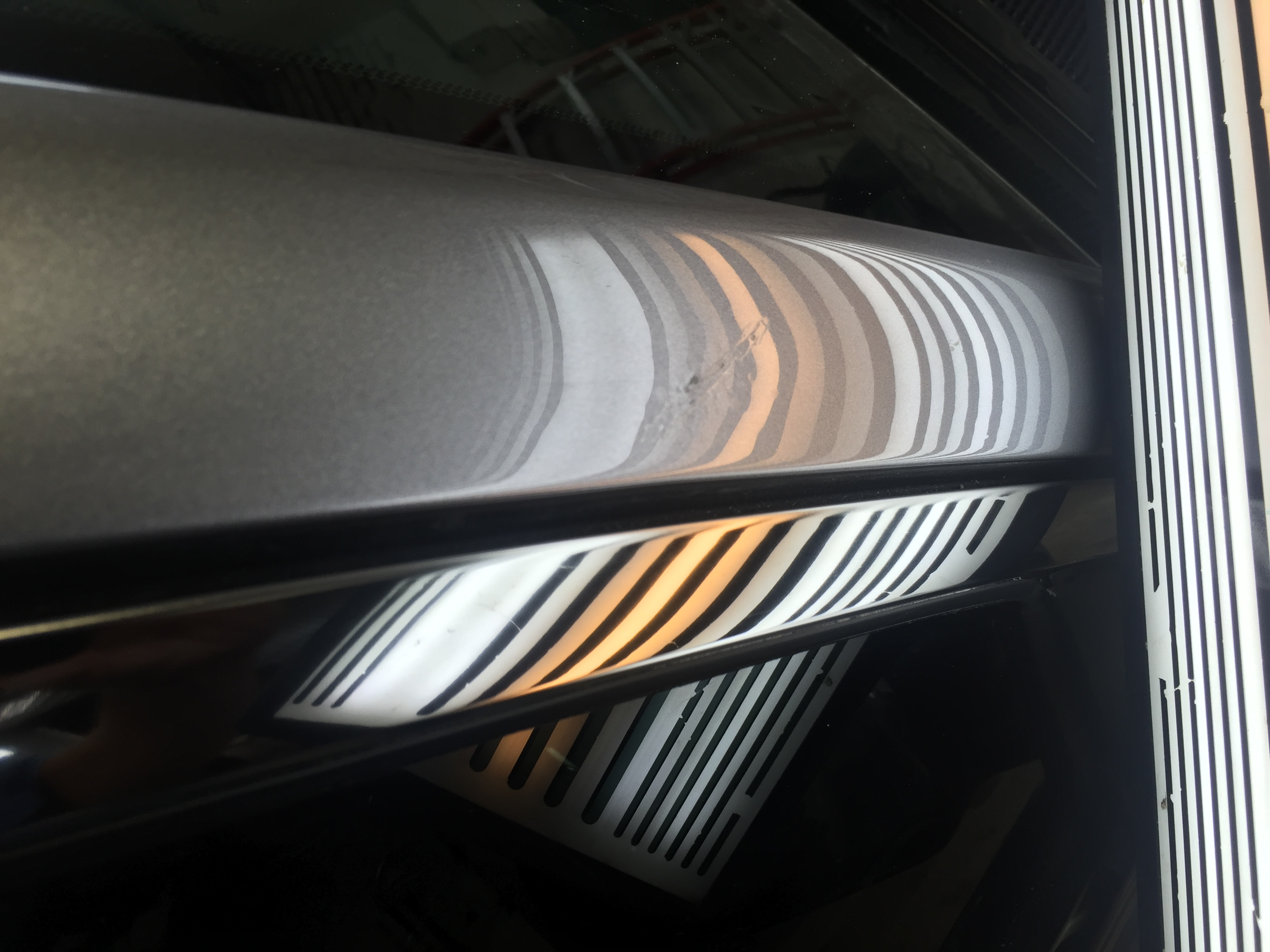 2015 Chrysler 300 Sharp Dent Removal on Pillar all glue pull, paintless dent repair, Springfield, IL http://217dent.com