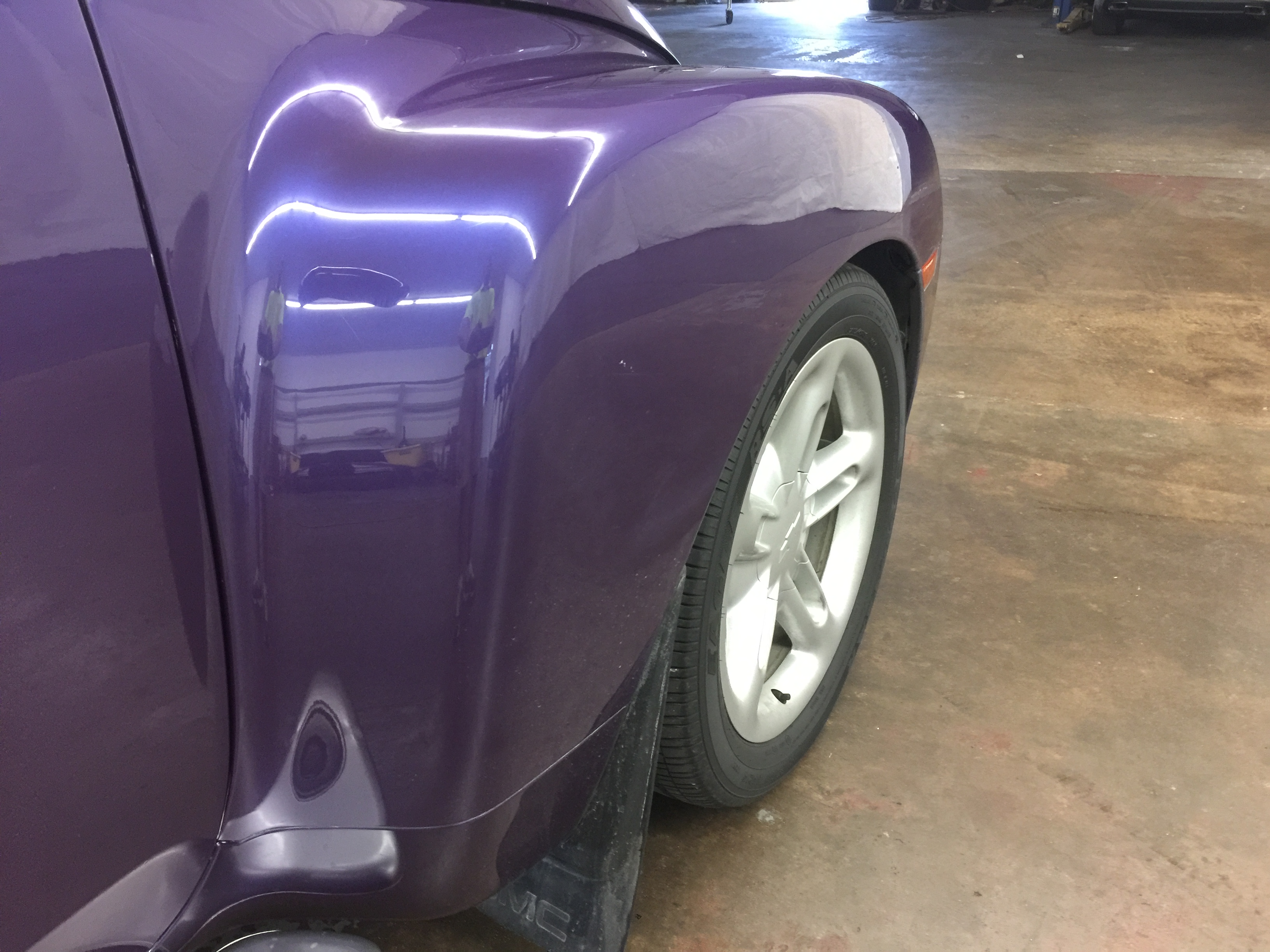2004 Chevy SSR, Paintless Dent Removal on the passenger fender, removed by Michael Bocek out of Springfield, IL http://217dent.com