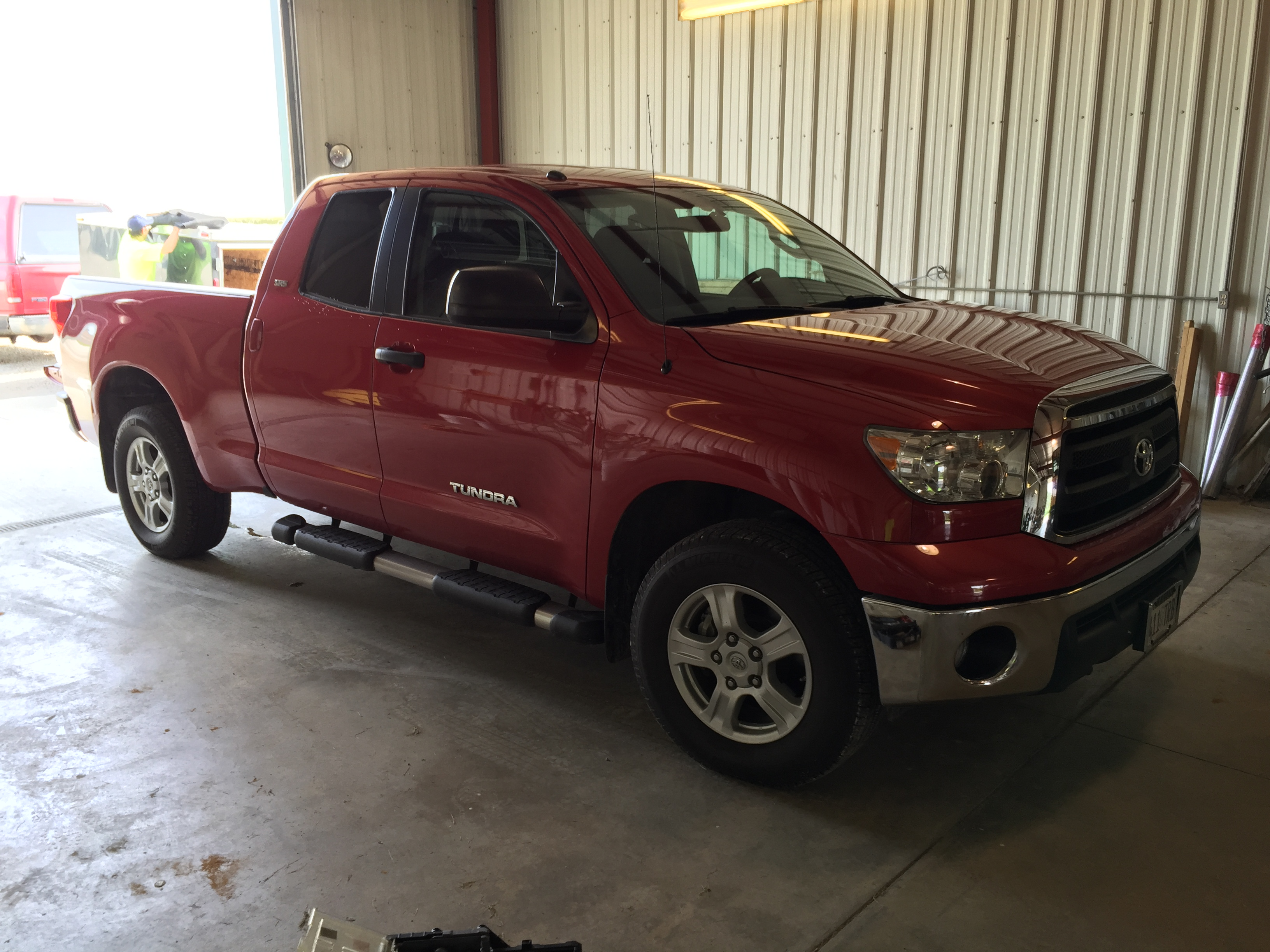 2010 Toyota Tundra, Hail Damage Removal by Michael Bocek out of Springfield, IL, Mobile Dent Repair, Mobile Hail Repair, Paintless dent removal, Springfield, IL, Decatur IL, Athens, IL, Bloomington, IL. http://217dent.com