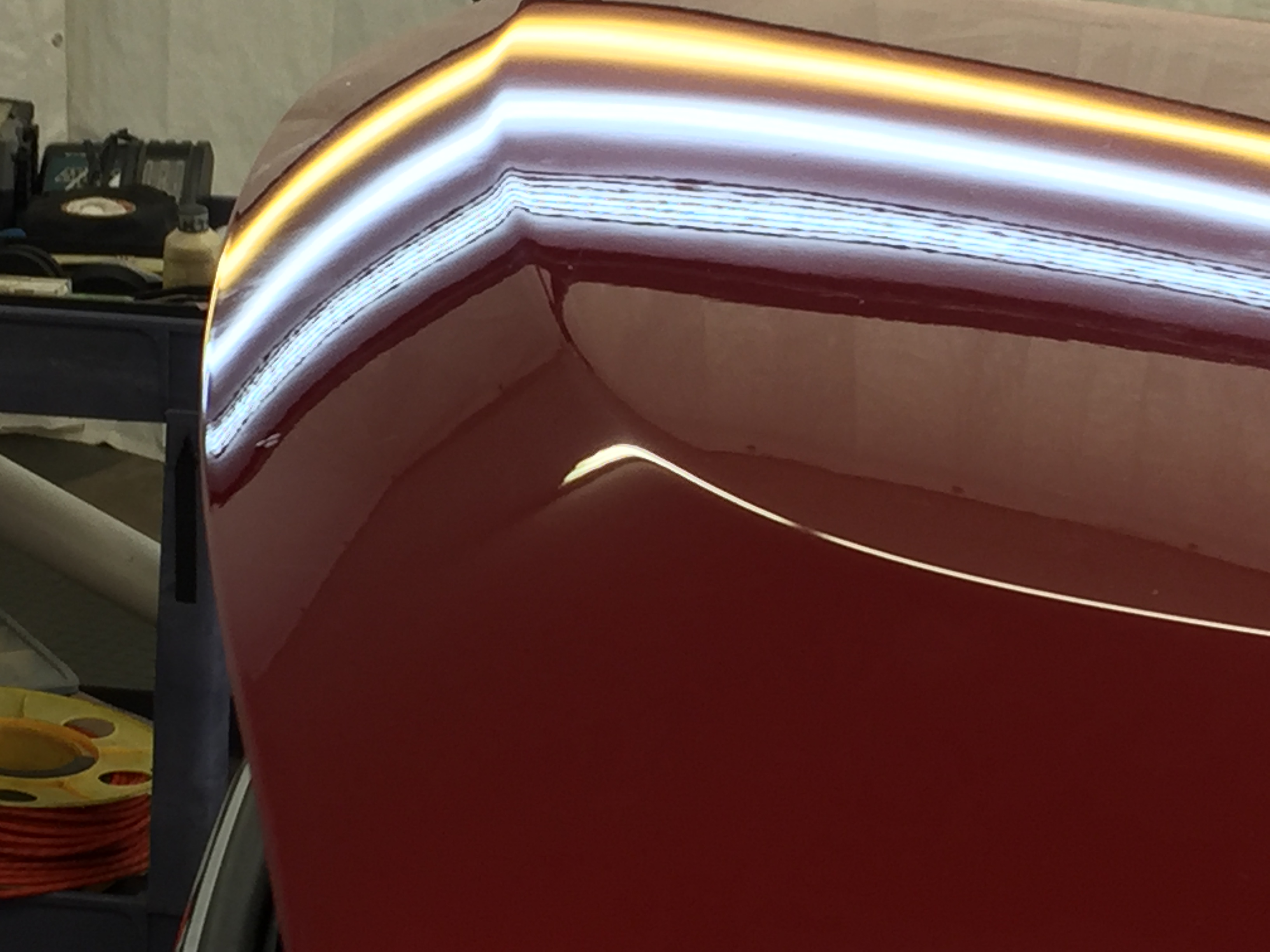 2016 Yukon Dent Removal on hood Springfield, IL, http://217dent.com