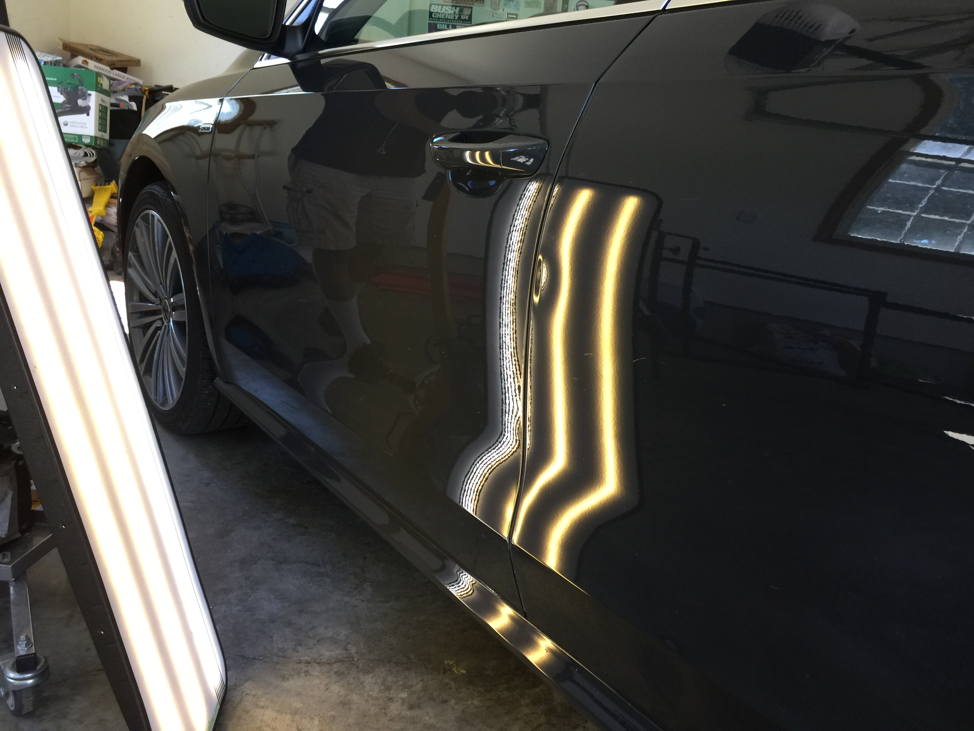 2015 VolksWagon Jetta Dent Removal, Sherman, IL. (near Springfield, IL). Multiple dents and damage, http://217dent.com