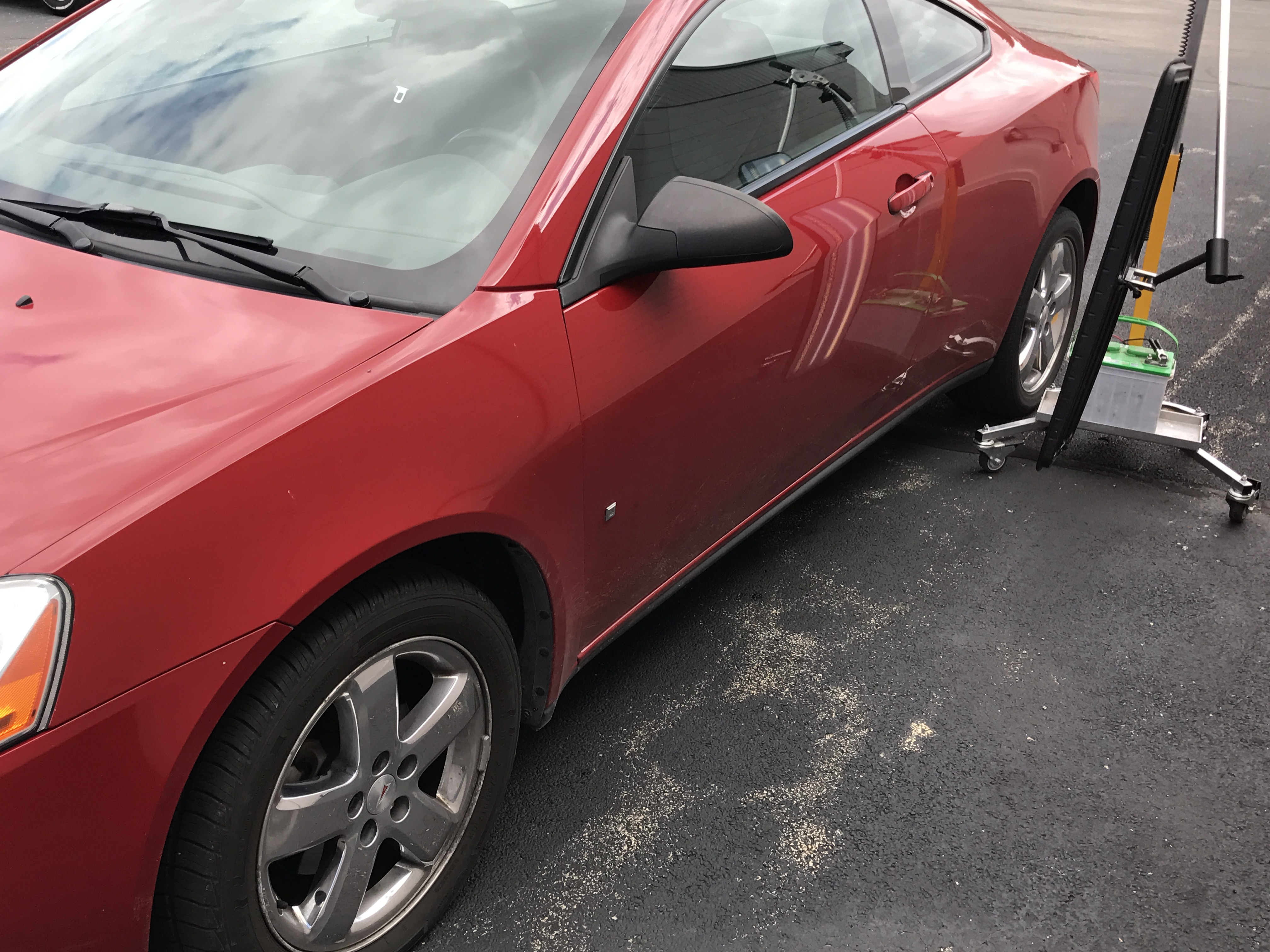 2007 G-6 Dent removal on drivers door and door edge dent repair. http://217dent.com