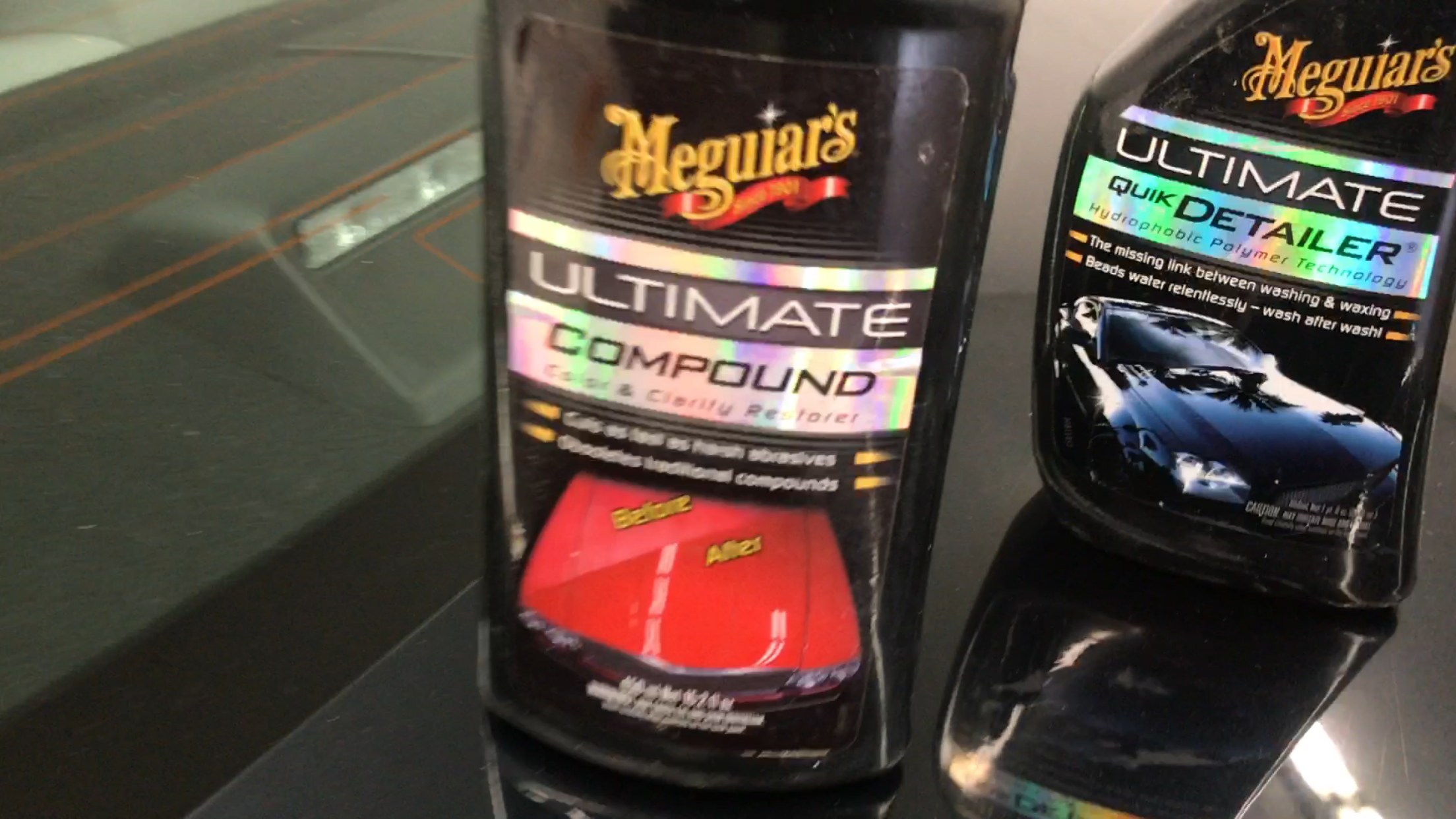 Meguiars Ultimate Compound, used in video of 2011 Toyota Camry Dent Removal, by Michael Bocek out of Springfield, IL. http://217dent.com