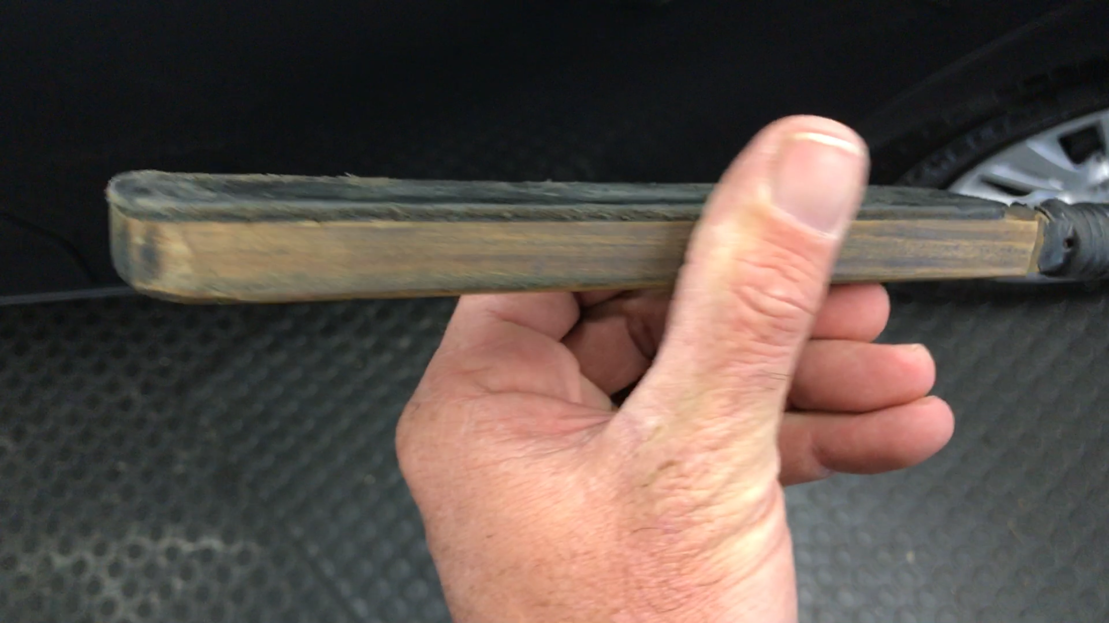 Leather covered paddle. Dent Repair Springfield, IL, Http://217dent.com