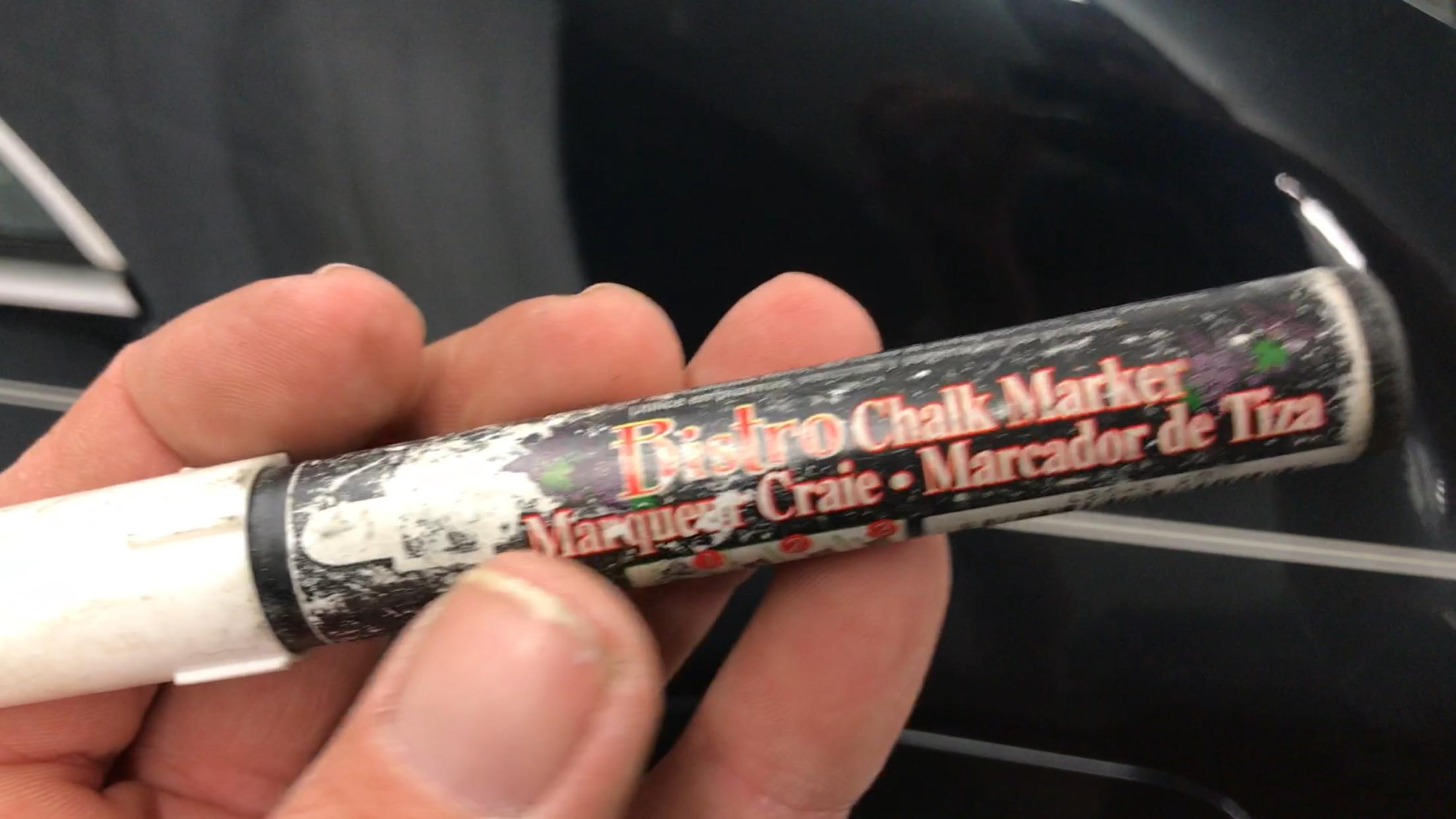 Chalk marker. http://217dent.com Springfield, IL