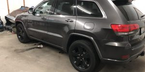 2015 Grand Cherokee Large Fender Damage Repaired in Springfield, IL http://217Dent.com