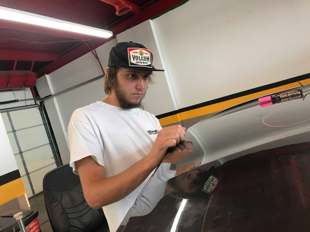Our Apprentice Ethan Hunter, is on Week two of a 8 week training program with Pueblo Hail and Dent School. http://PuebloHailandDent.com