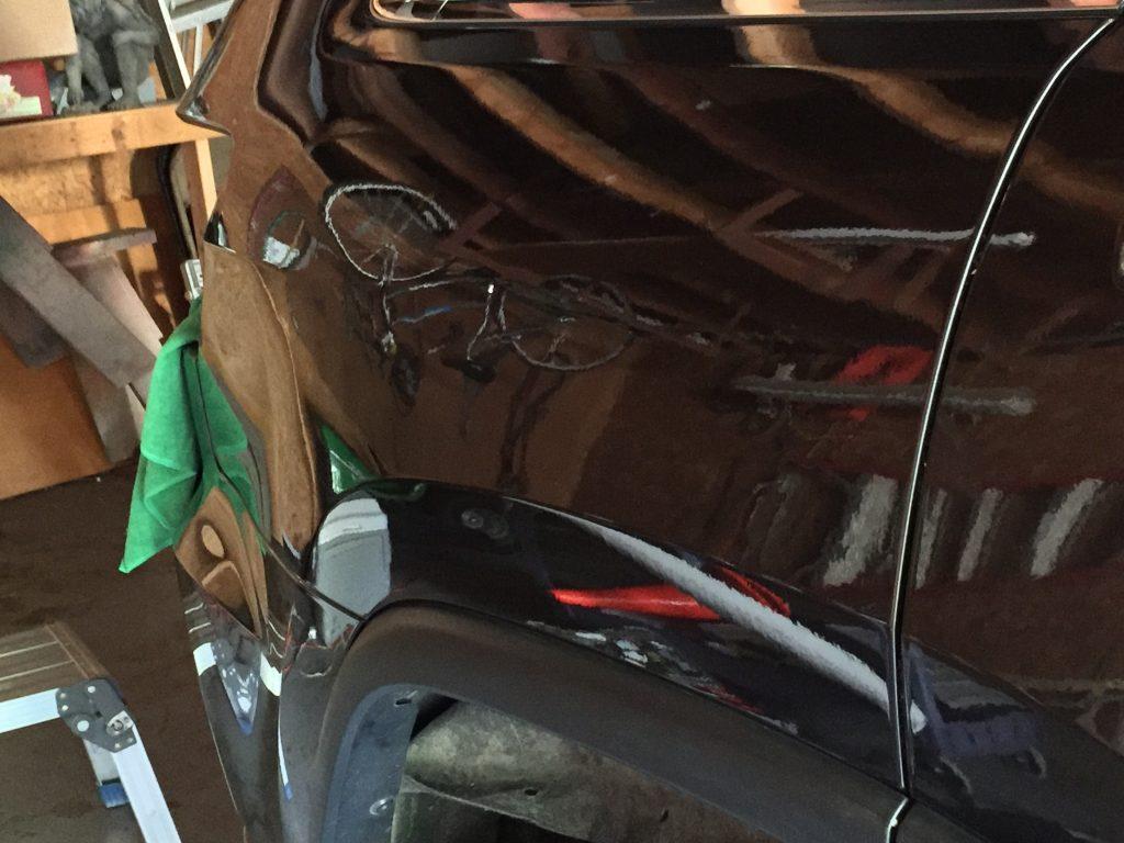 2015 Grand Cherokee Dent Removal, Springfield, IL. Major damage in rear quarter, http://217dent.com